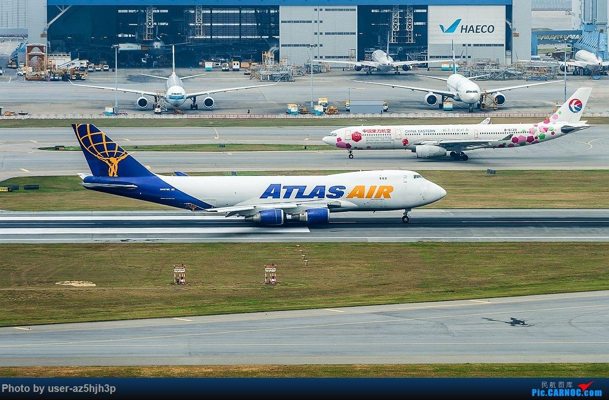 Re:杂片一组 BOEING 747-400 N497MC 香港国际机场