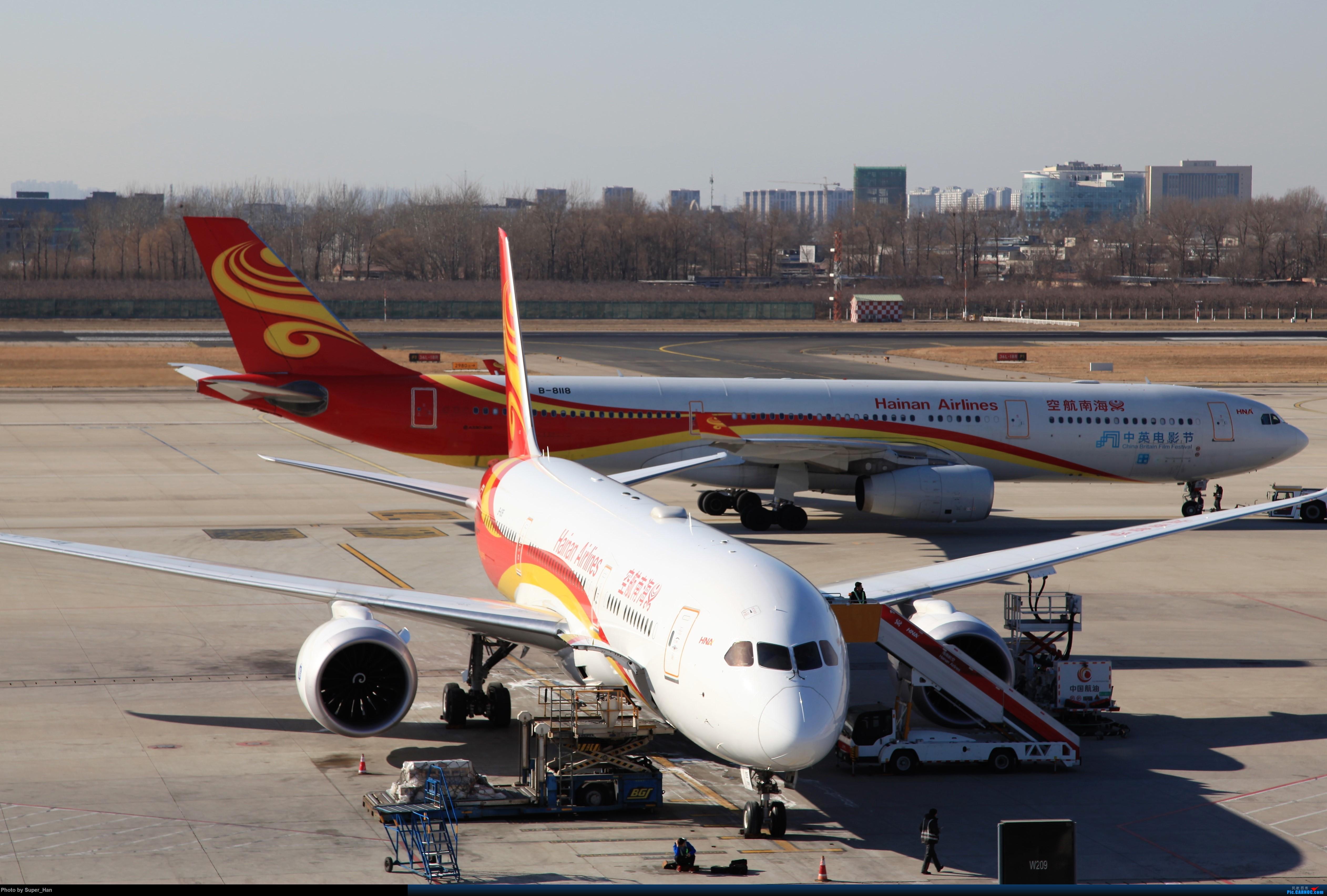 [原创]1月17日PEK东跑道T3东停一组 AIRBUS A330-300 B-8118 中国北京首都国际机场