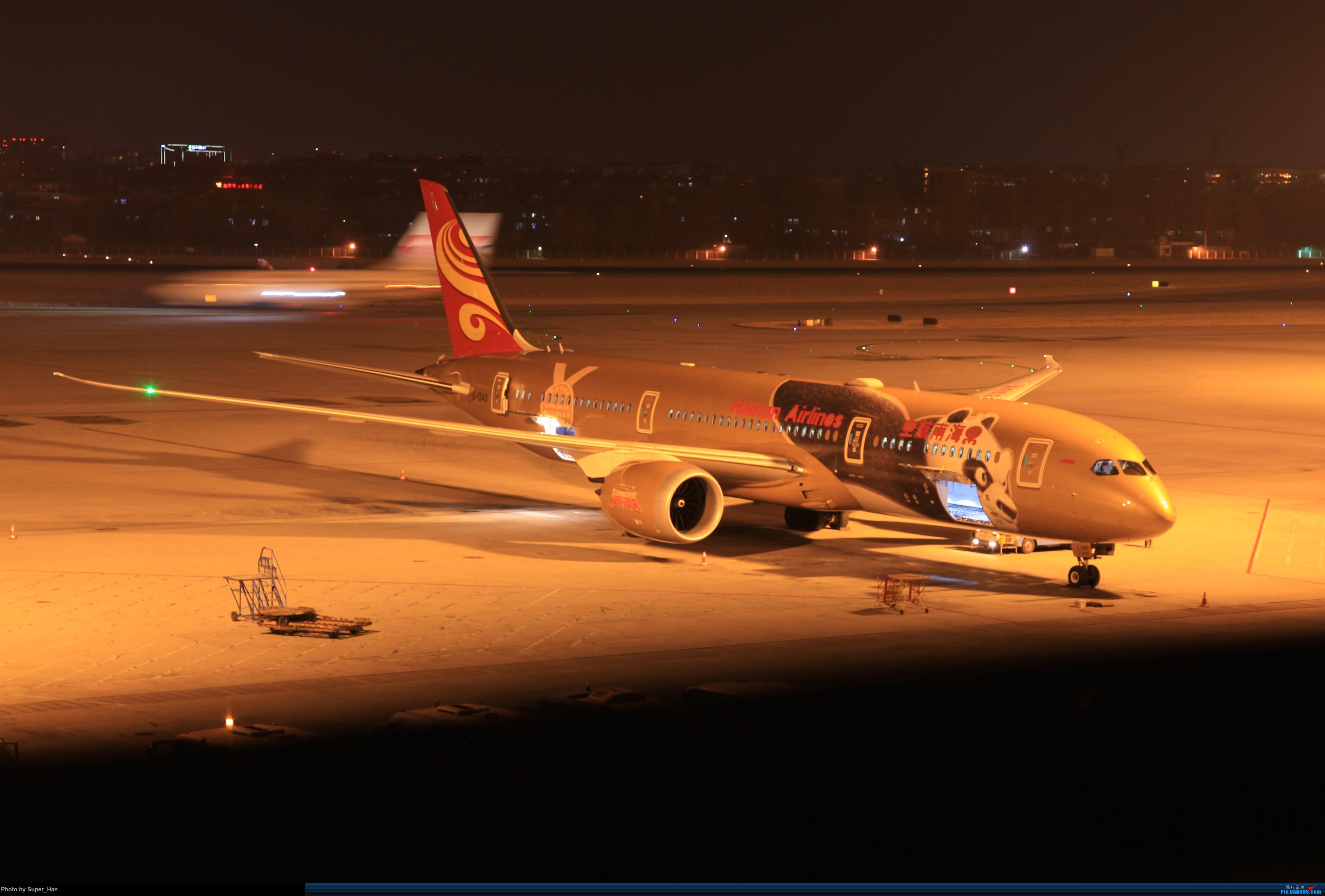 Re:[原创]1月17日PEK BOEING 787-9 B-1343 中国北京首都国际机场