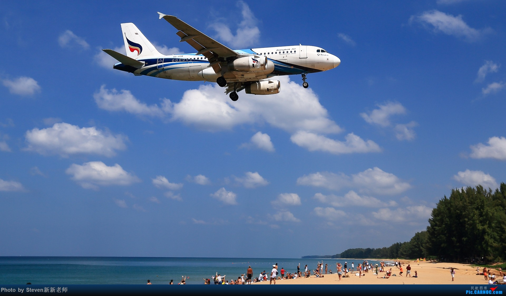 "Re:[原创]亚洲""圣马丁岛""—普吉国际机场拍机 AIRBUS A319-100 HS-PPB 泰国普吉机场"
