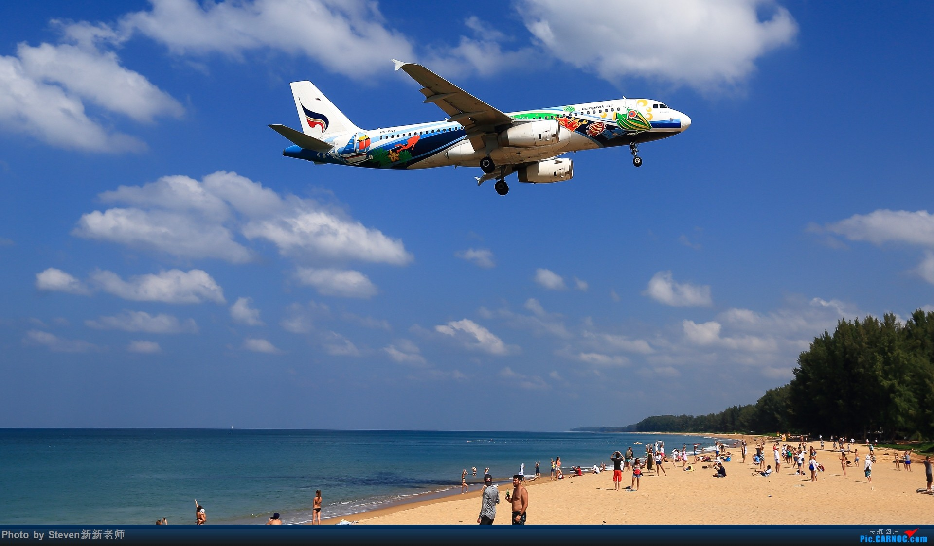 "Re:[原创]亚洲""圣马丁岛""—普吉国际机场拍机 AIRBUS A320-200 HS-PGV 泰国普吉机场"