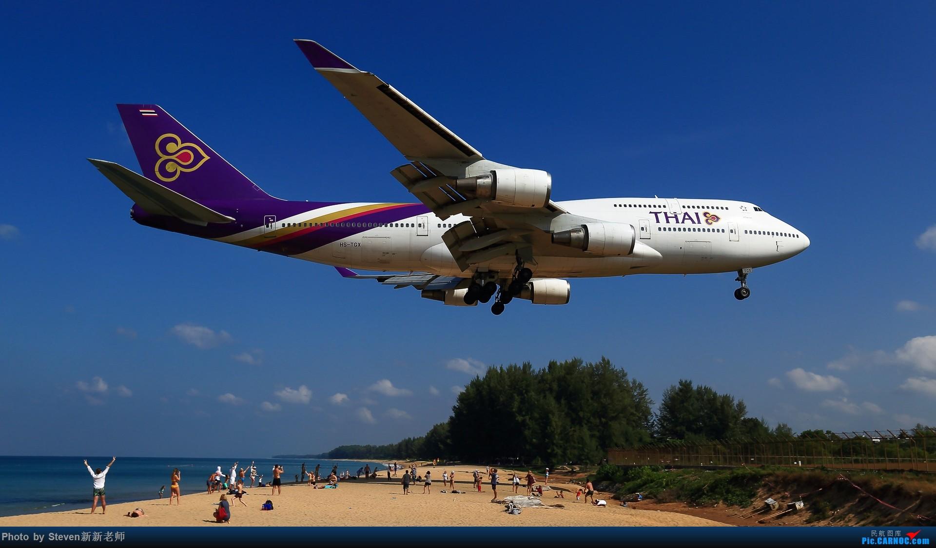 """Re:[原创]亚洲""""圣马丁岛""""—普吉国际机场拍机 BOEING 747-400 HS-TGX 泰国普吉机场"""