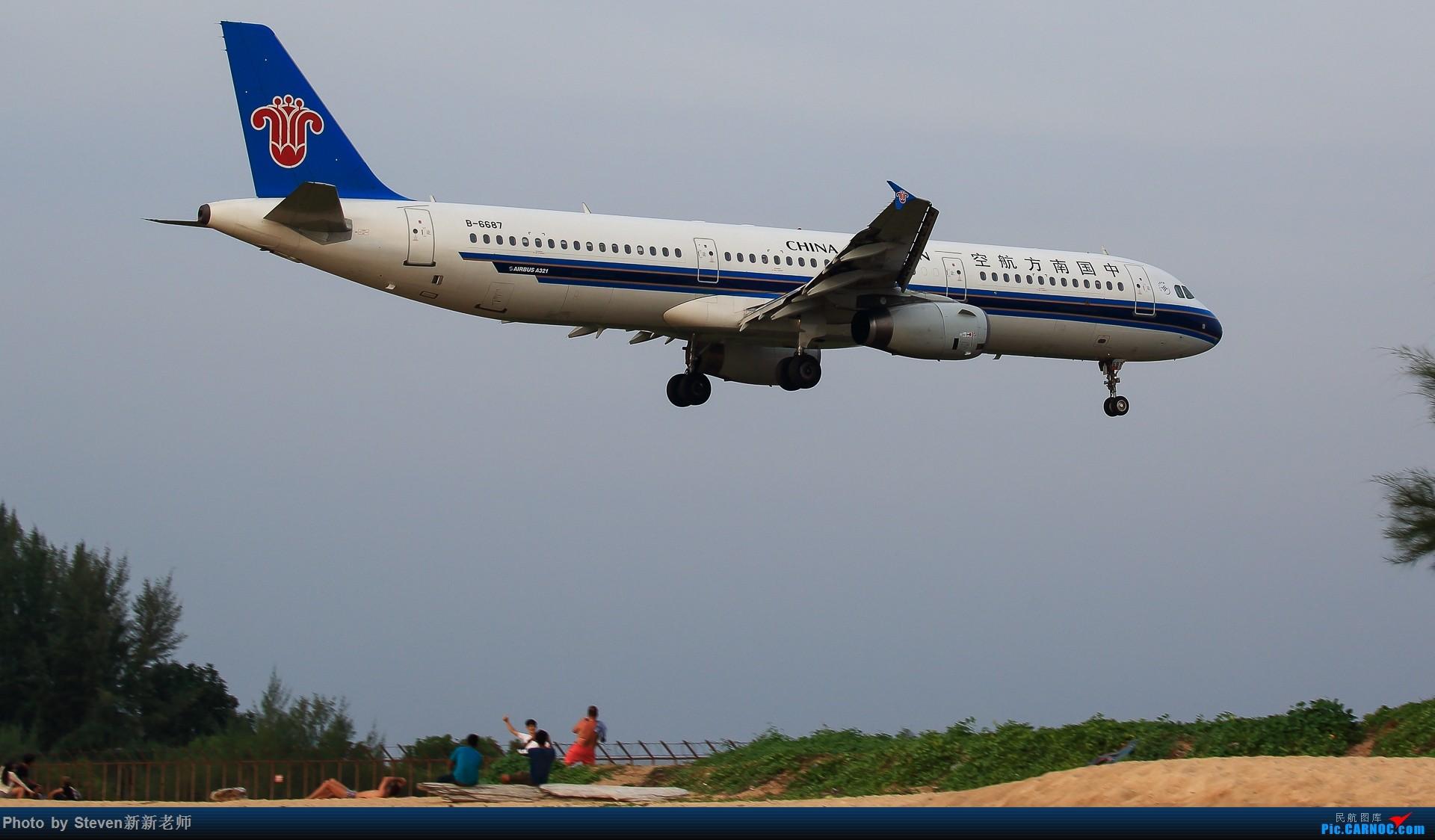 """Re:[原创]亚洲""""圣马丁岛""""—普吉国际机场拍机 AIRBUS A321-200 B-6687 泰国普吉机场"""