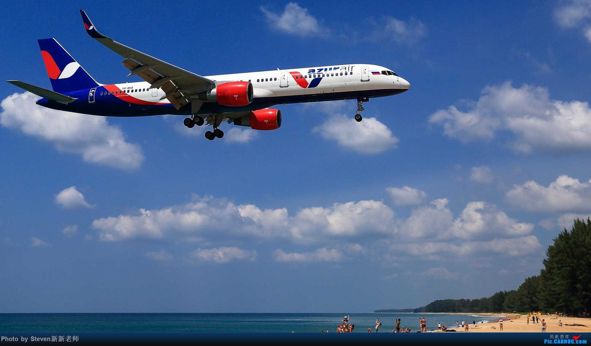 """Re:[原创]亚洲""""圣马丁岛""""—普吉国际机场拍机 BOEING 757-200 VQ-BKB 泰国普吉机场"""
