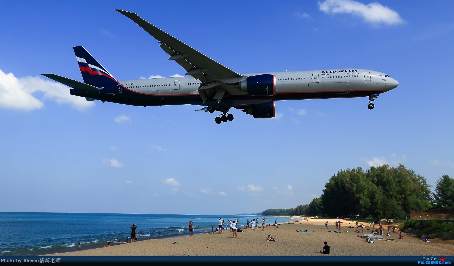 """Re:[原创]亚洲""""圣马丁岛""""—普吉国际机场拍机 BOEING 777-300ER VP-BGD 泰国普吉机场"""