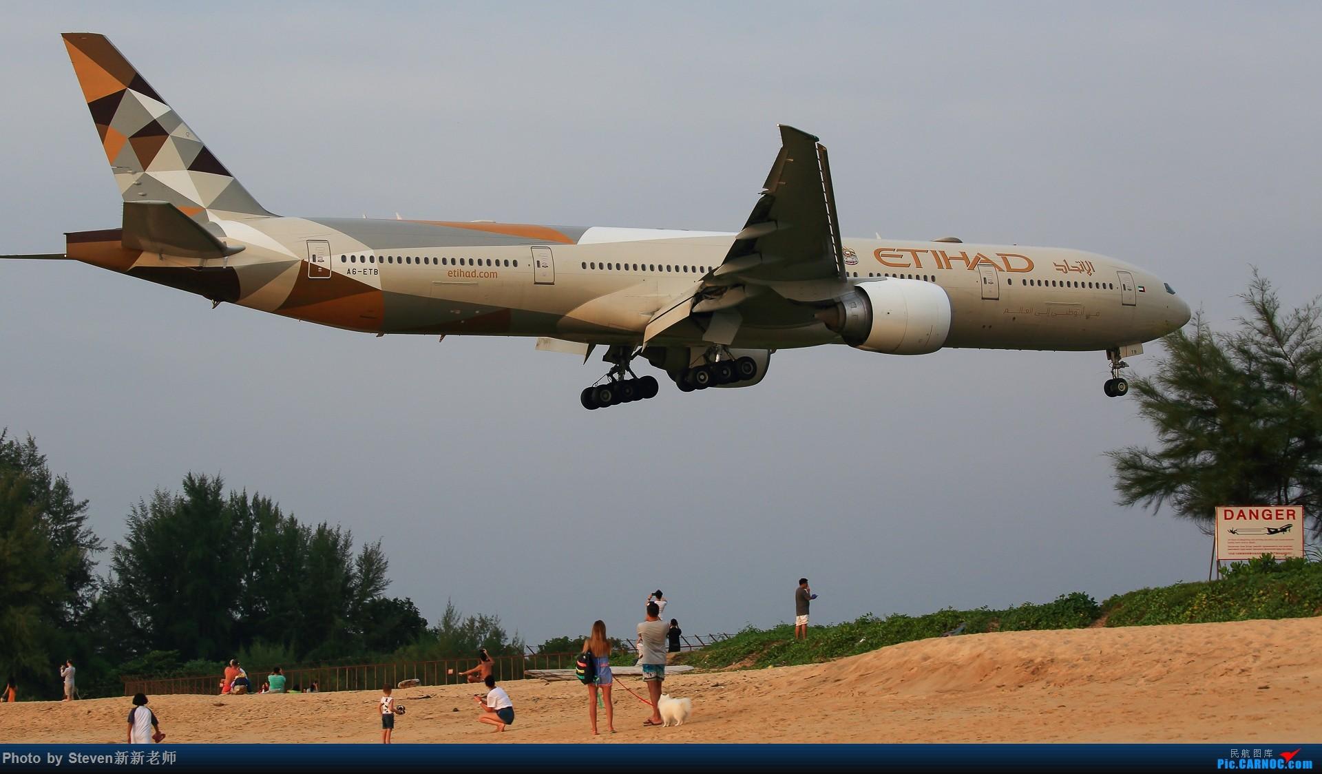 """Re:[原创]亚洲""""圣马丁岛""""—普吉国际机场拍机 BOEING 767-300ER A6-ETB 泰国普吉机场"""
