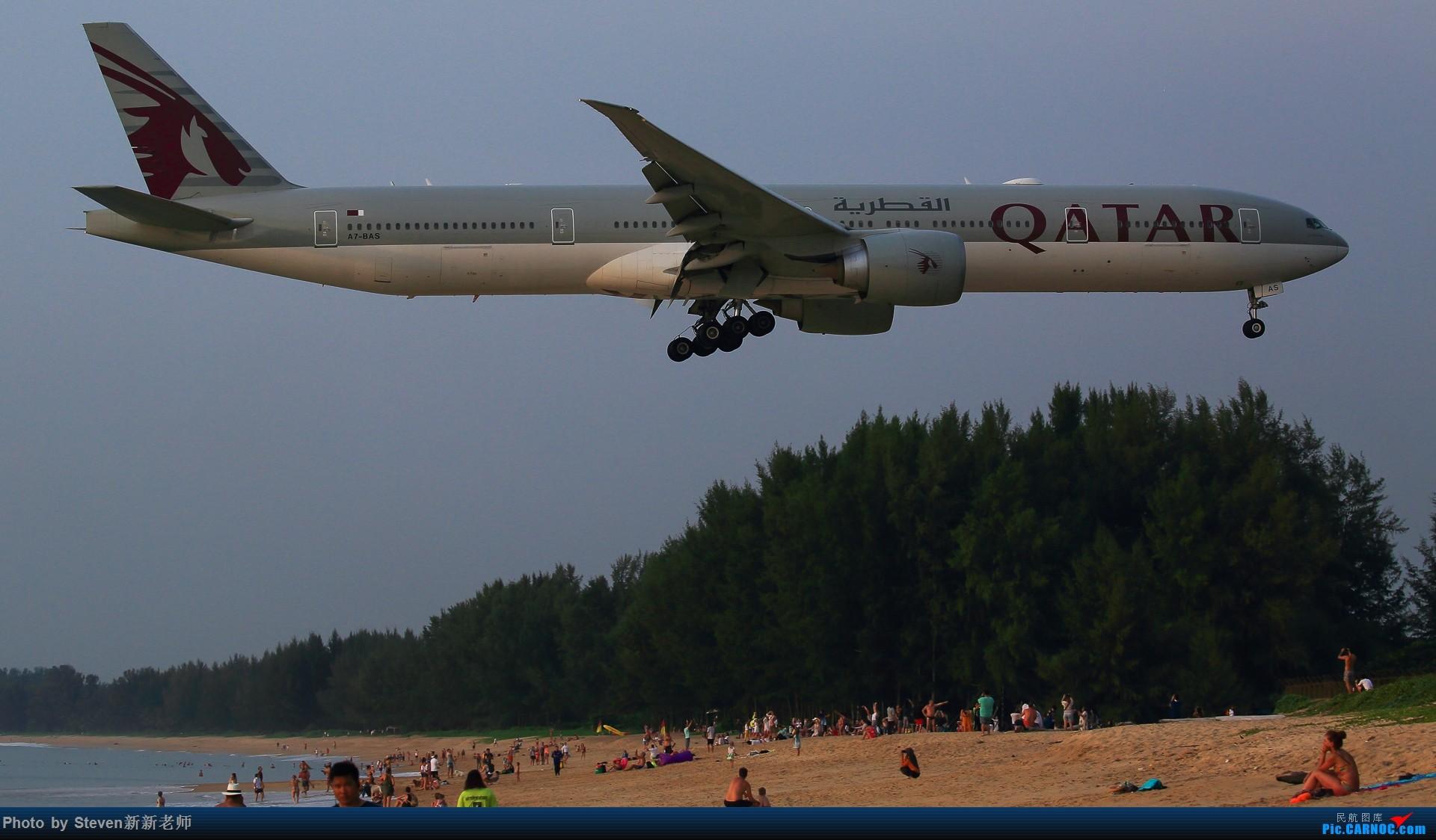 """Re:[原创]亚洲""""圣马丁岛""""—普吉国际机场拍机 BOEING 777-300ER A7-BAS 泰国普吉机场"""
