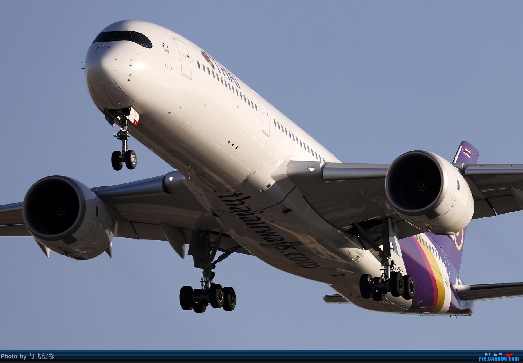 "Re:[原创]农历三十再发一贴,祝朋友们新年""猪""事顺利,吉祥如意! AIRBUS A350-900 HS-THJ 中国北京首都国际机场"