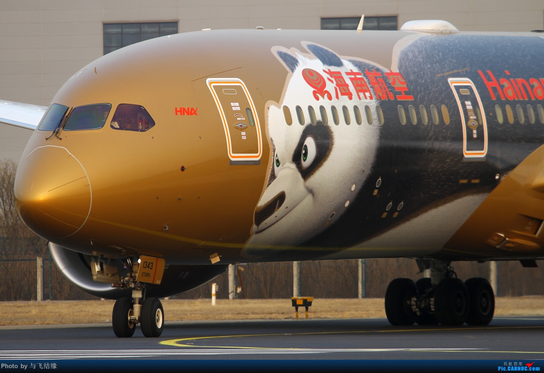 """Re:[原创]农历三十再发一贴,祝朋友们新年""""猪""""事顺利,吉祥如意! BOEING 787-9 B-1343 中国北京首都国际机场"""