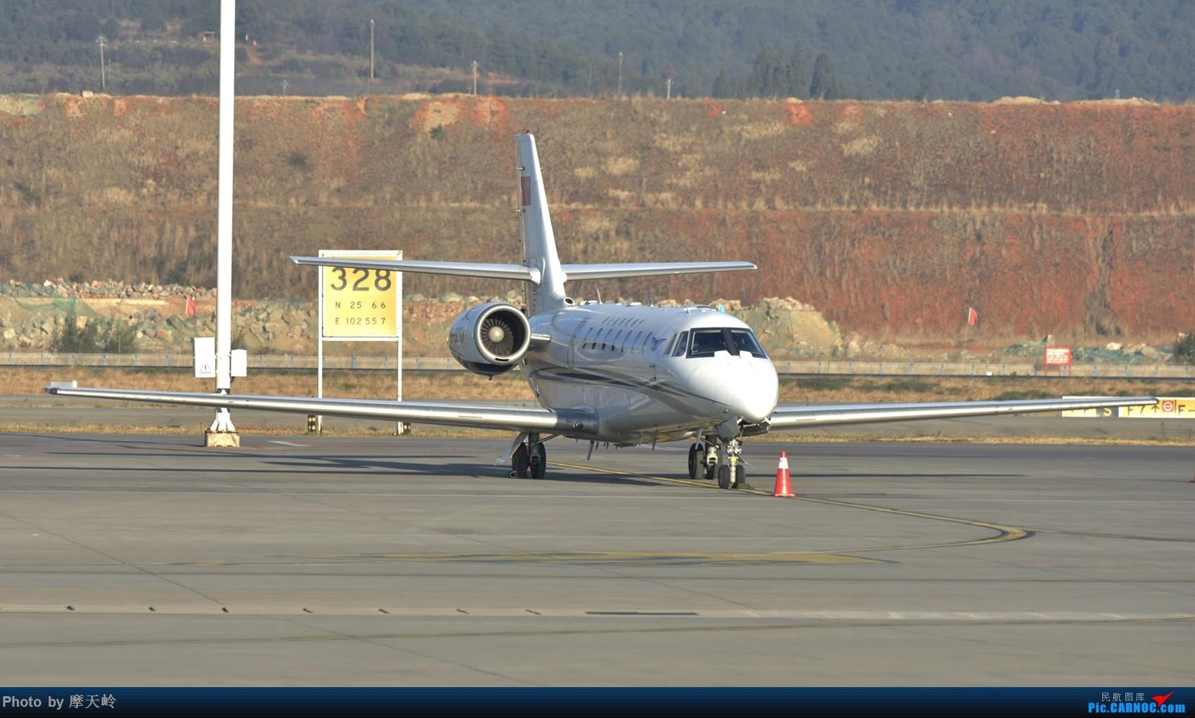 [原创]长水小鸡当家 CESSNA 680 B-9301 中国昆明长水国际机场