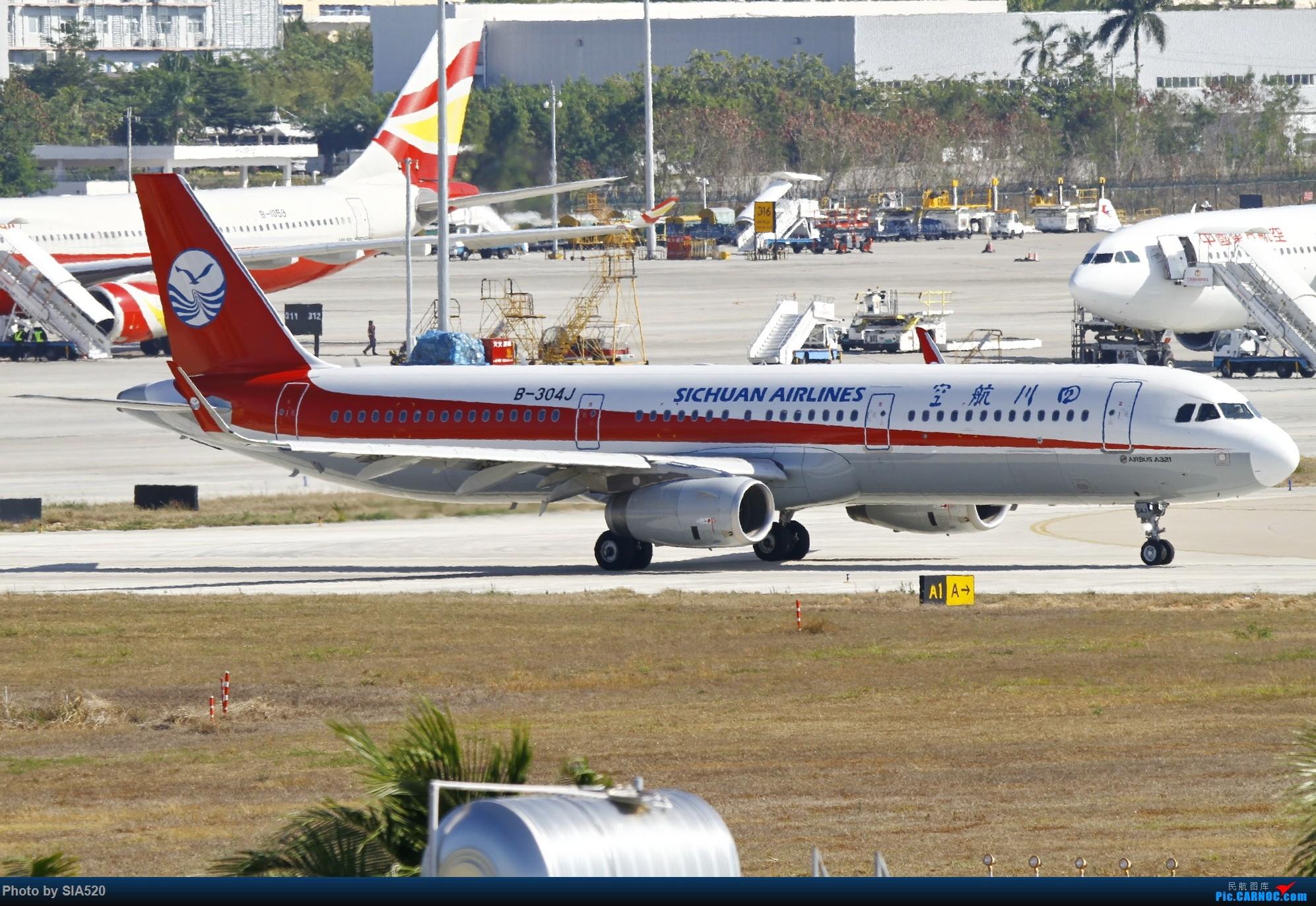 Re:[原创]北京人儿在三亚—600mm解锁凤凰 AIRBUS A321-200 B-304J 中国三亚凤凰国际机场