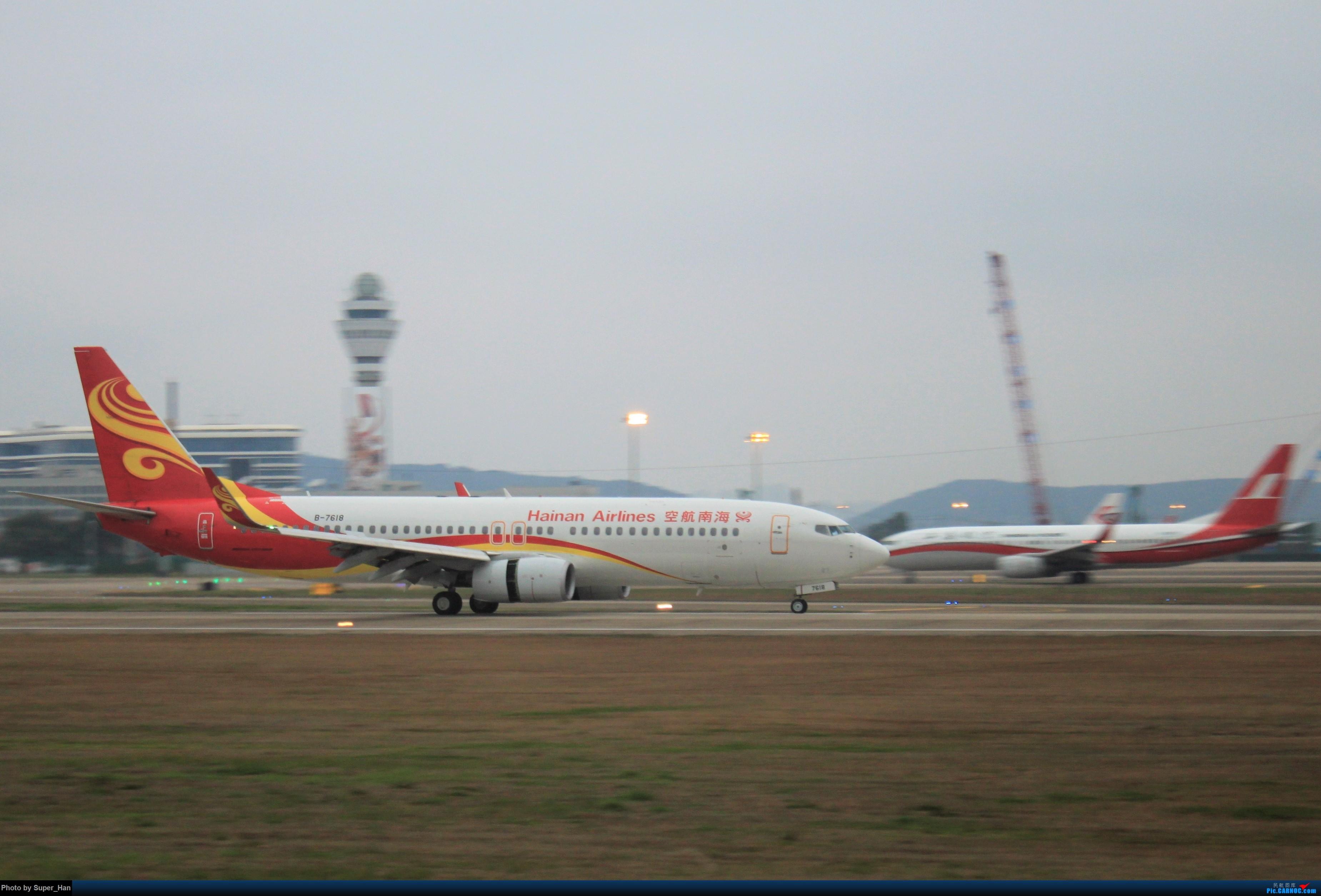 Re:[原创]0208HGH转悠 BOEING 737-800 B-7618 中国杭州萧山国际机场