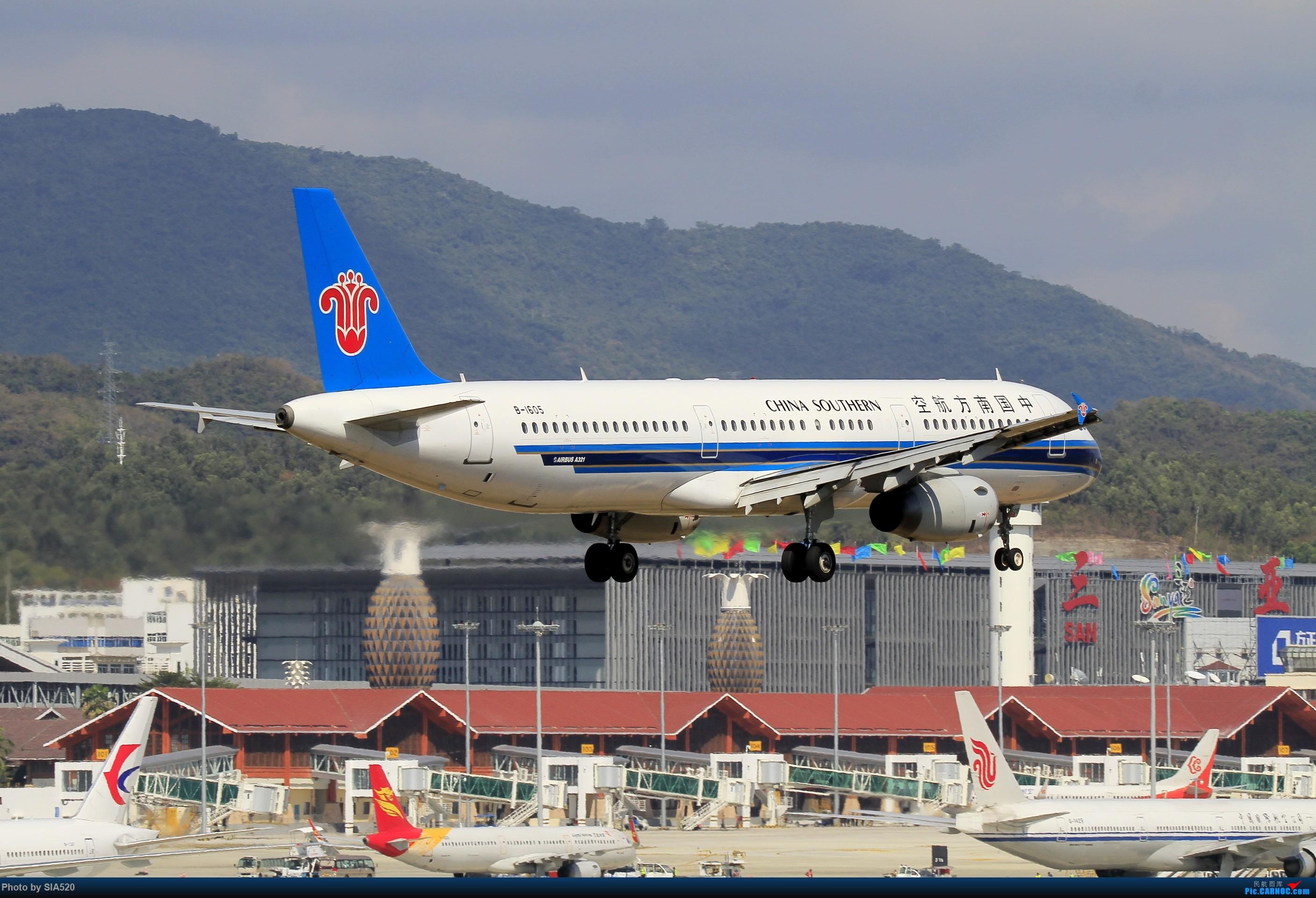 Re:[原创]北京人儿在三亚—600mm解锁凤凰 AIRBUS A321-200 B-1605 中国三亚凤凰国际机场