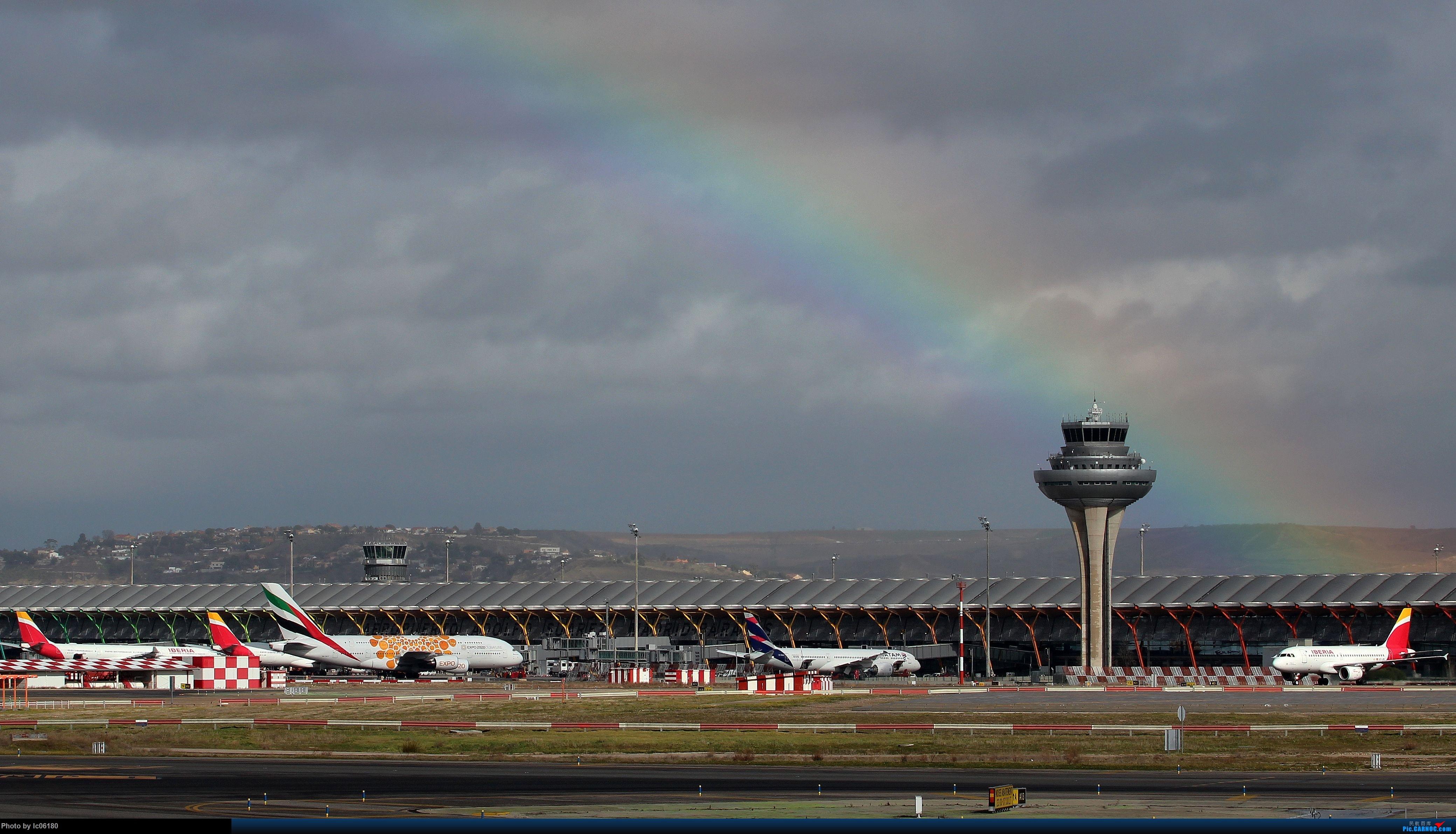 Re:『lc06180』彩虹下的马德里机场&古巴航空IL96    西班牙马德里机场