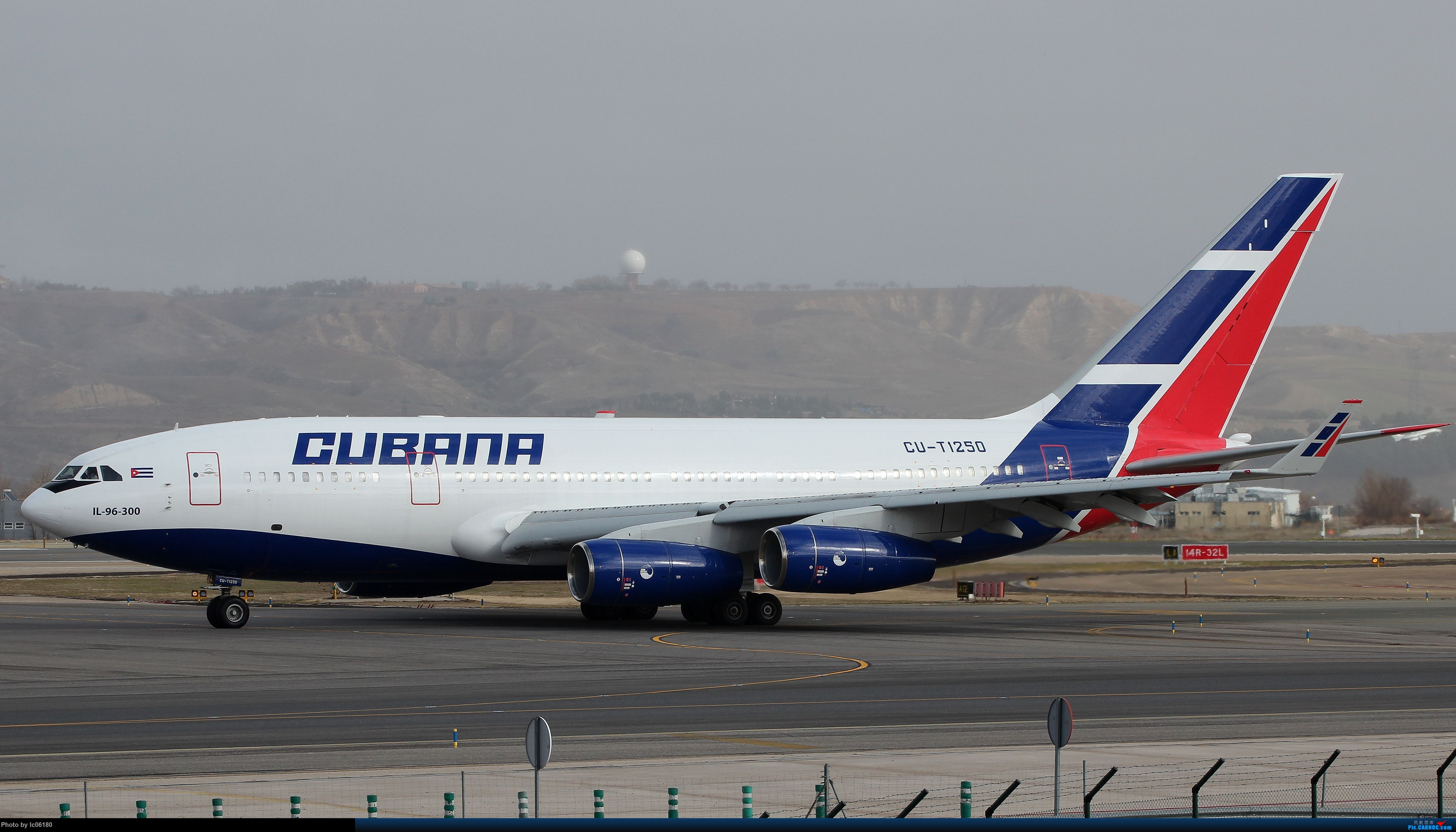 Re:[原创]『lc06180』彩虹下的马德里机场&古巴航空IL96 ILYUSHIN IL-96-300 CU-T1250 西班牙马德里机场