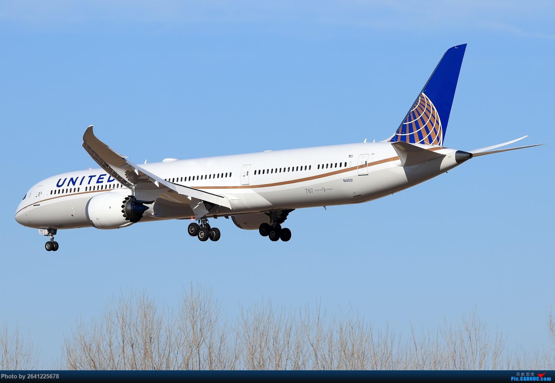 Re:[原创]美联航787-10到访北京,接代表团返回华盛顿 BOEING 787-10 N14001 中国北京首都国际机场