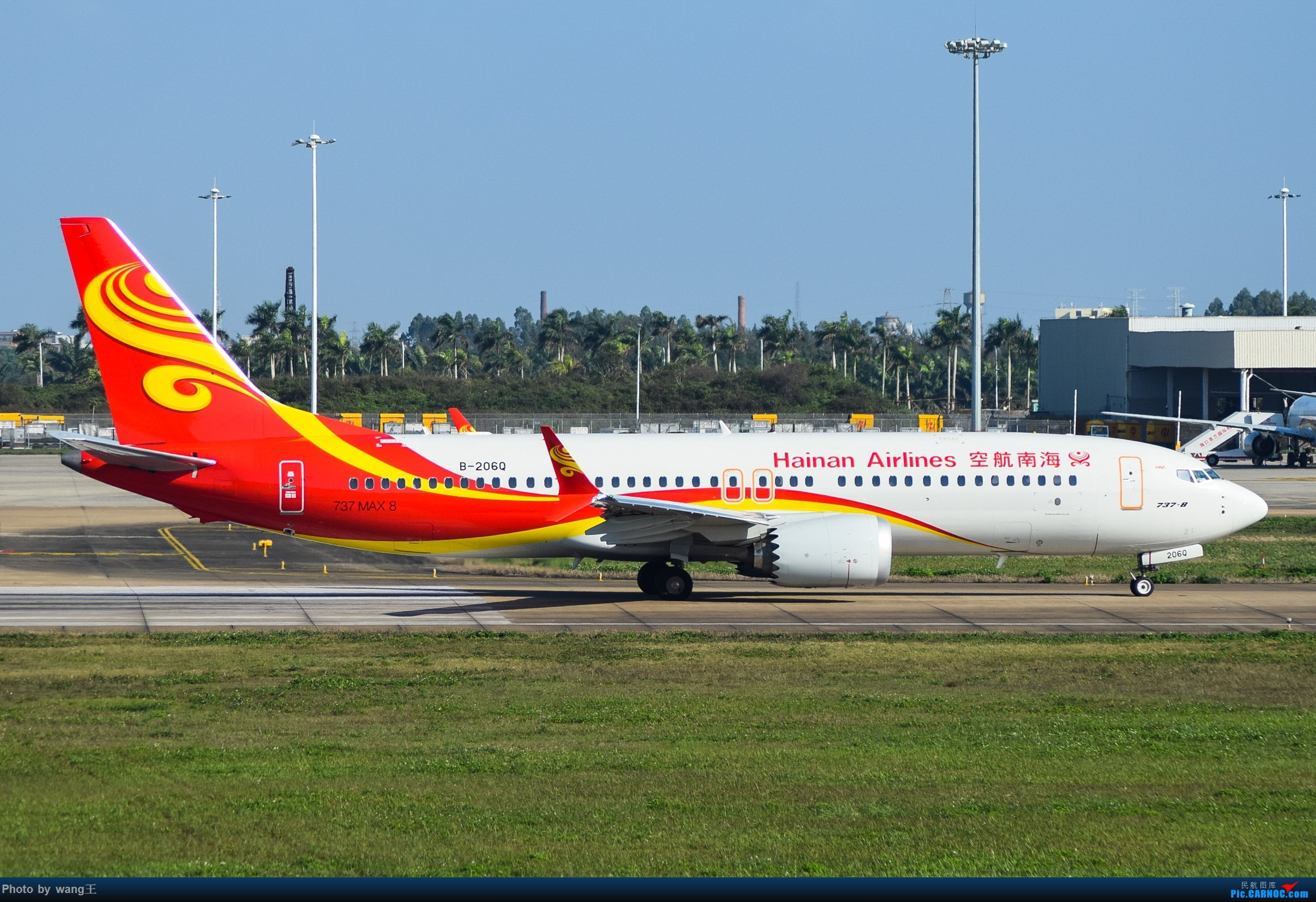 Re:[原创]记录HAK 2019的春运 BOEING 737MAX-8 B-206Q 中国海口美兰国际机场