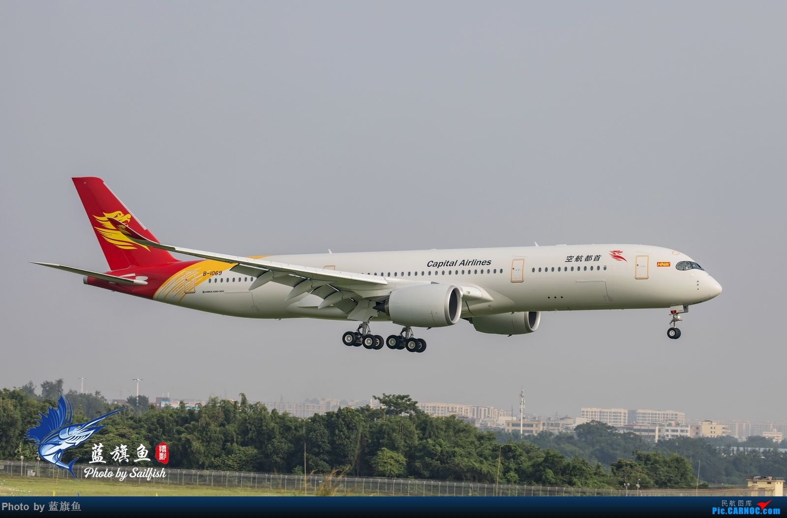 "Re:[原创]【蓝旗鱼摄影】首航A350""眼镜侠"" AIRBUS A350-900 B-1069"