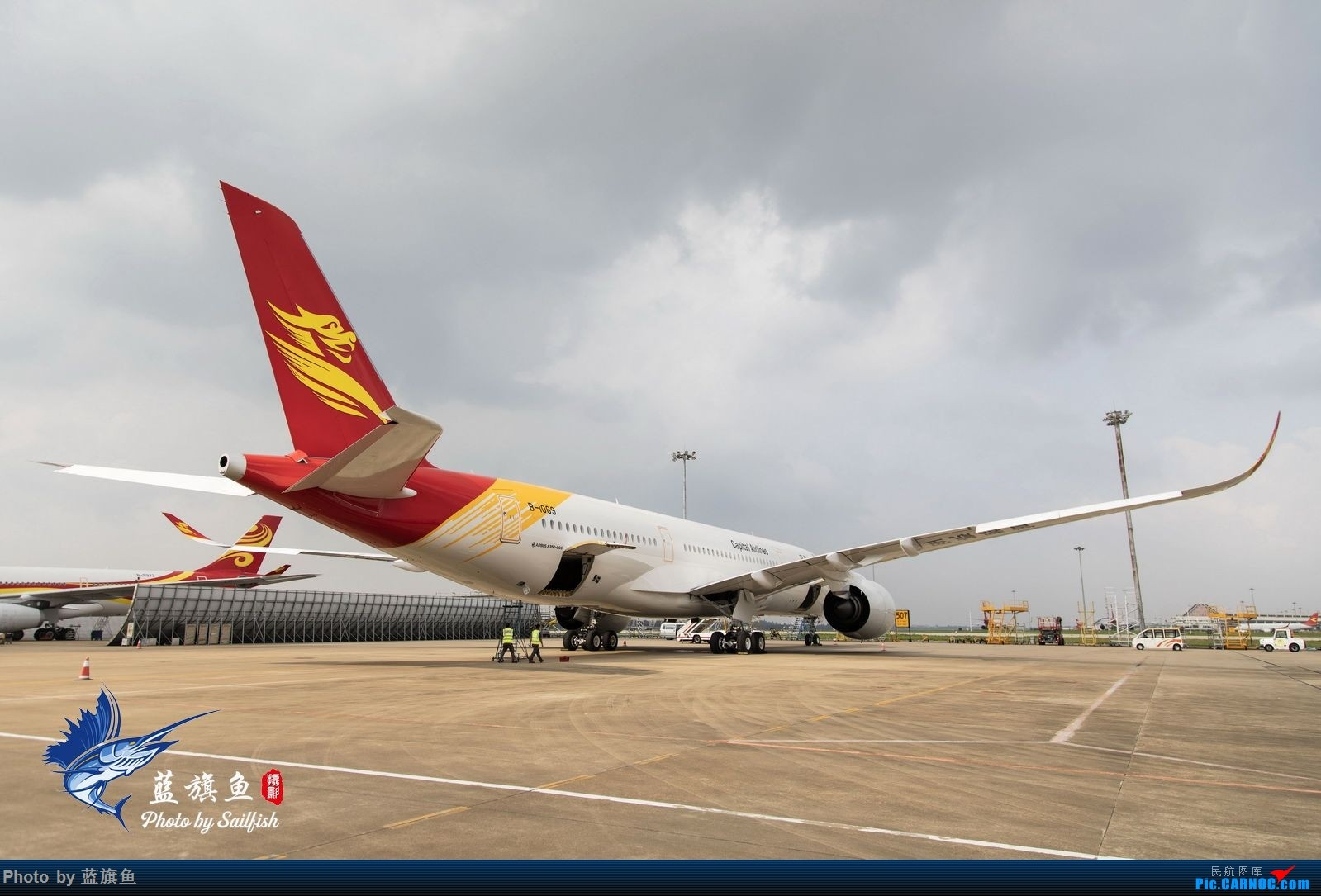 "Re:[原创]【蓝旗鱼摄影】首航A350""眼镜侠"" AIRBUS A350-900 B-1069 海口美兰机场"