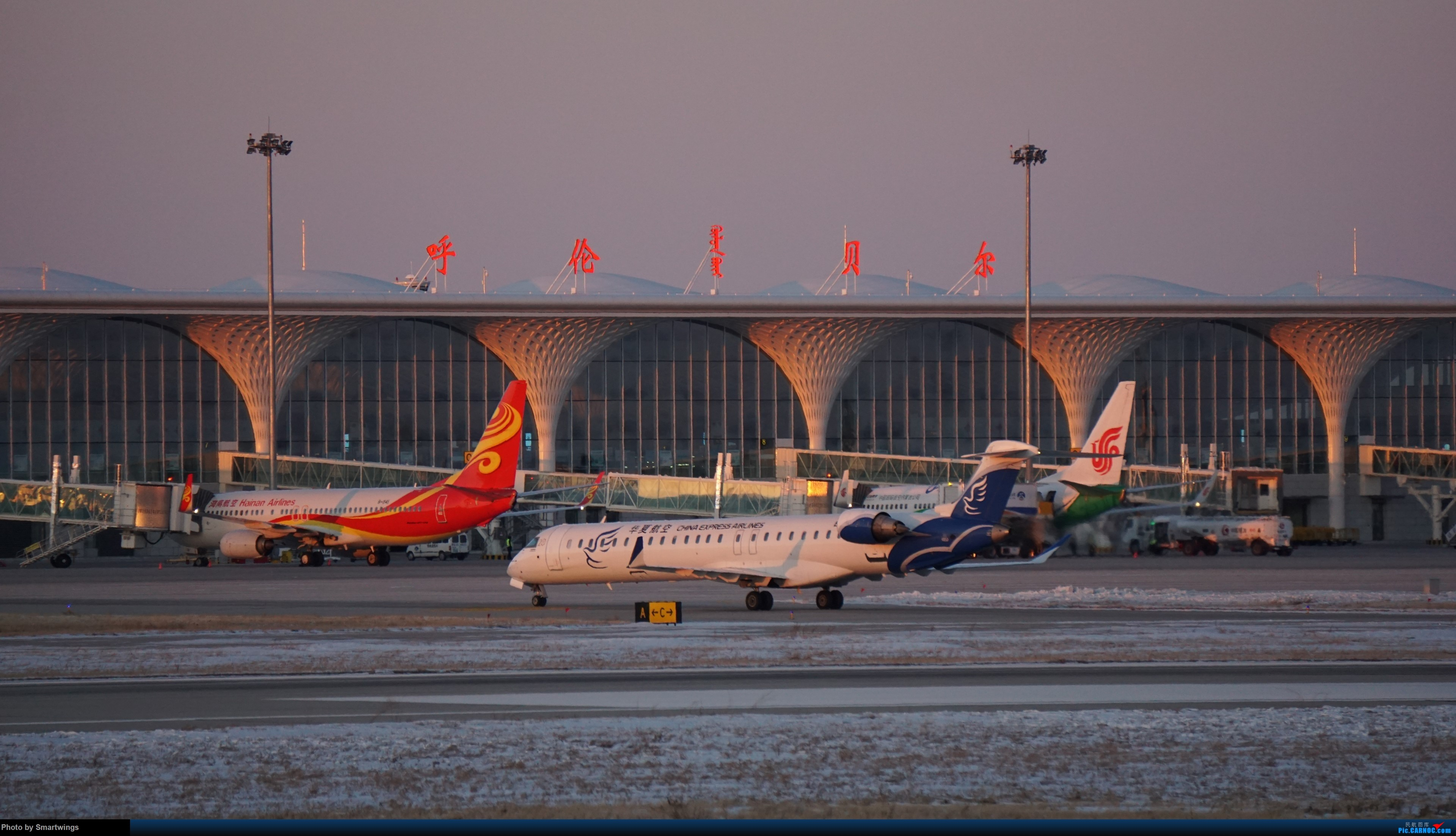Re:[原创]呼伦贝尔机场冬日午后 BOMBARDIER CRJ900NG B-3382 中国海拉尔东山机场