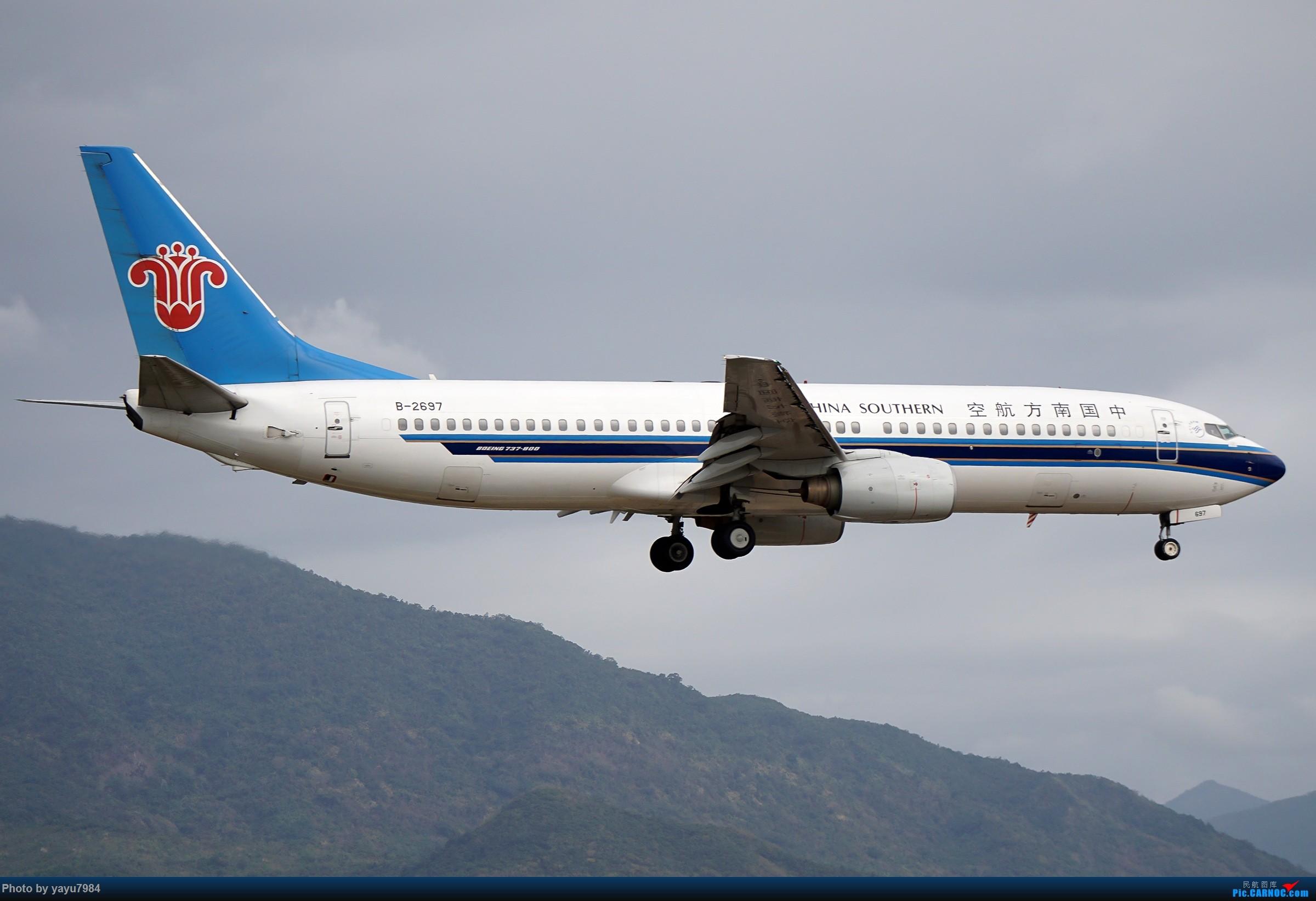 [原创][SYX] 回国首拍,春运高峰时段的三亚凤凰国际机场 BOEING 737-800 B-2697 中国三亚凤凰国际机场