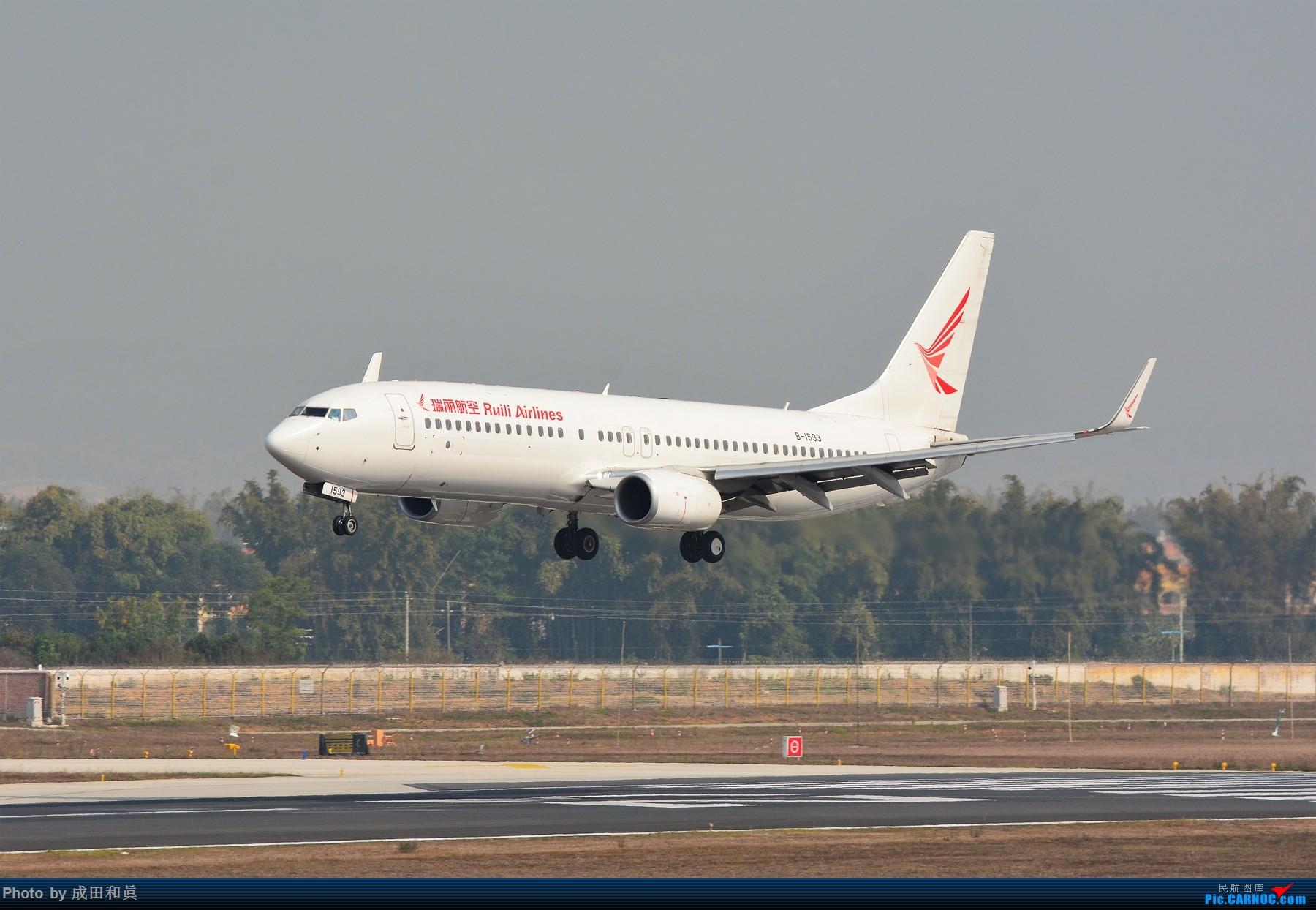 [原创]云南德宏芒市机场首次商业载客运行B737-800机型 BOEING 737-800 B-1593 中国芒市机场