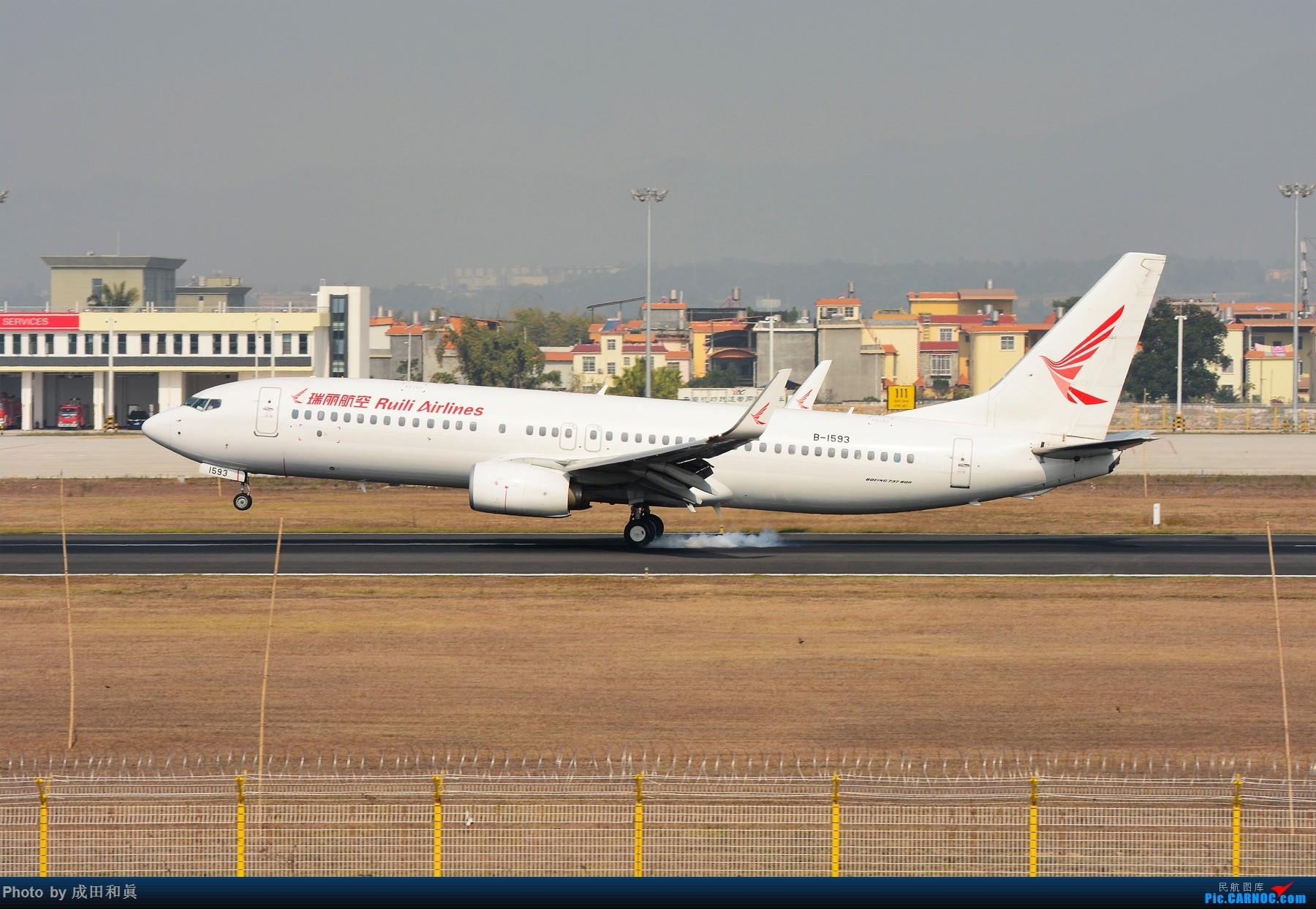 Re:[原创]云南德宏芒市机场首次商业载客运行B737-800机型 BOEING 737-800 B-1593 中国芒市机场
