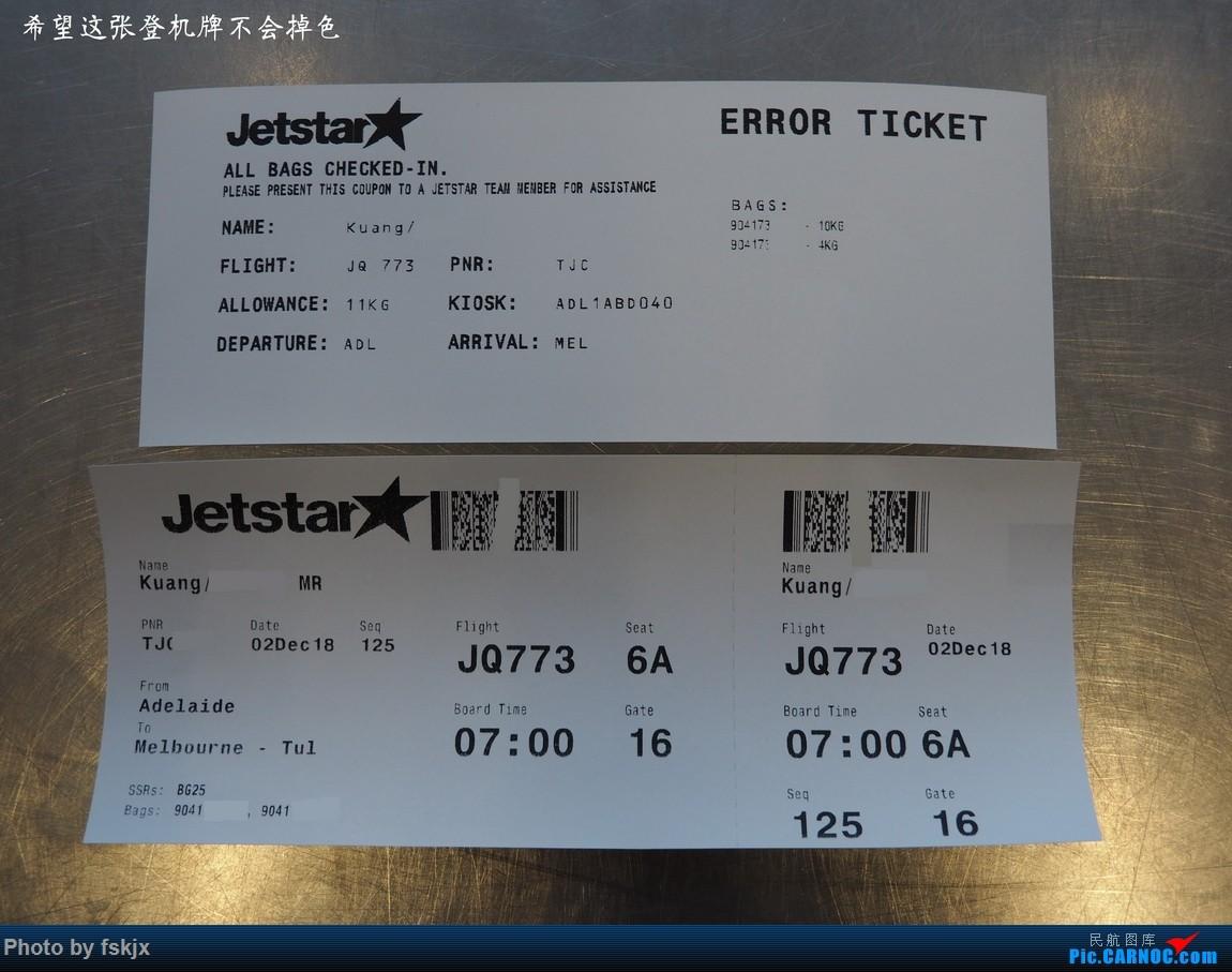 【fskjx的飞行游记☆67】在土澳的9天——阿德莱德·墨尔本    澳大利亚阿德莱德机场