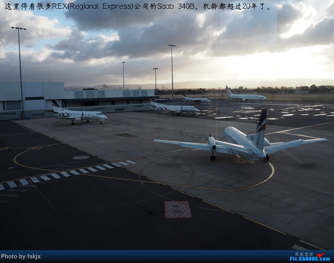【fskjx的飞行游记☆67】在土澳的9天——阿德莱德·墨尔本 SAAB 340B VH-RXN 澳大利亚阿德莱德机场