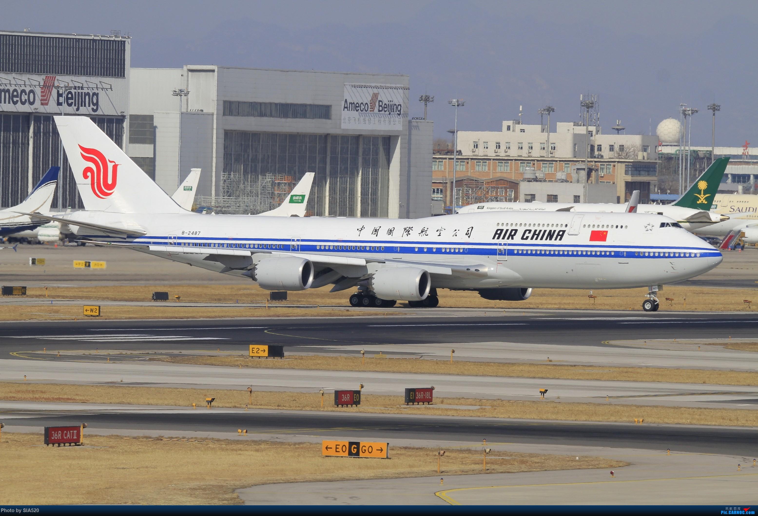 Re:近日杂图—pek 36R BOEING 747-8I B-2487 中国北京首都国际机场