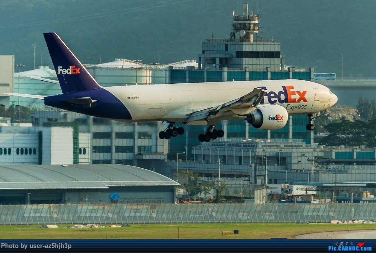 Re:联邦快递N861FD降落香港国际机场 BOEING 777F N861FD 香港国际机场