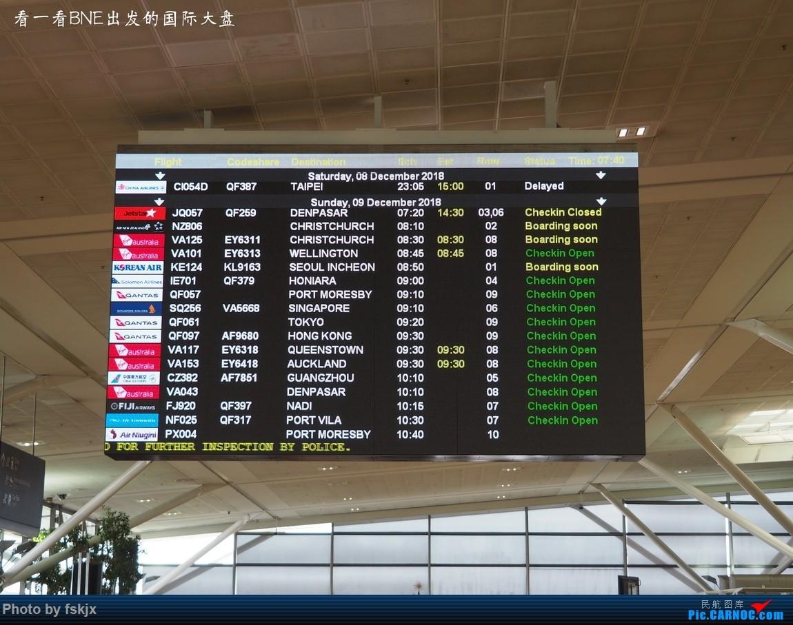 【fskjx的飞行游记☆68】在土澳的9天——黄金海岸·布里斯班·悉尼    澳大利亚布里斯班机场