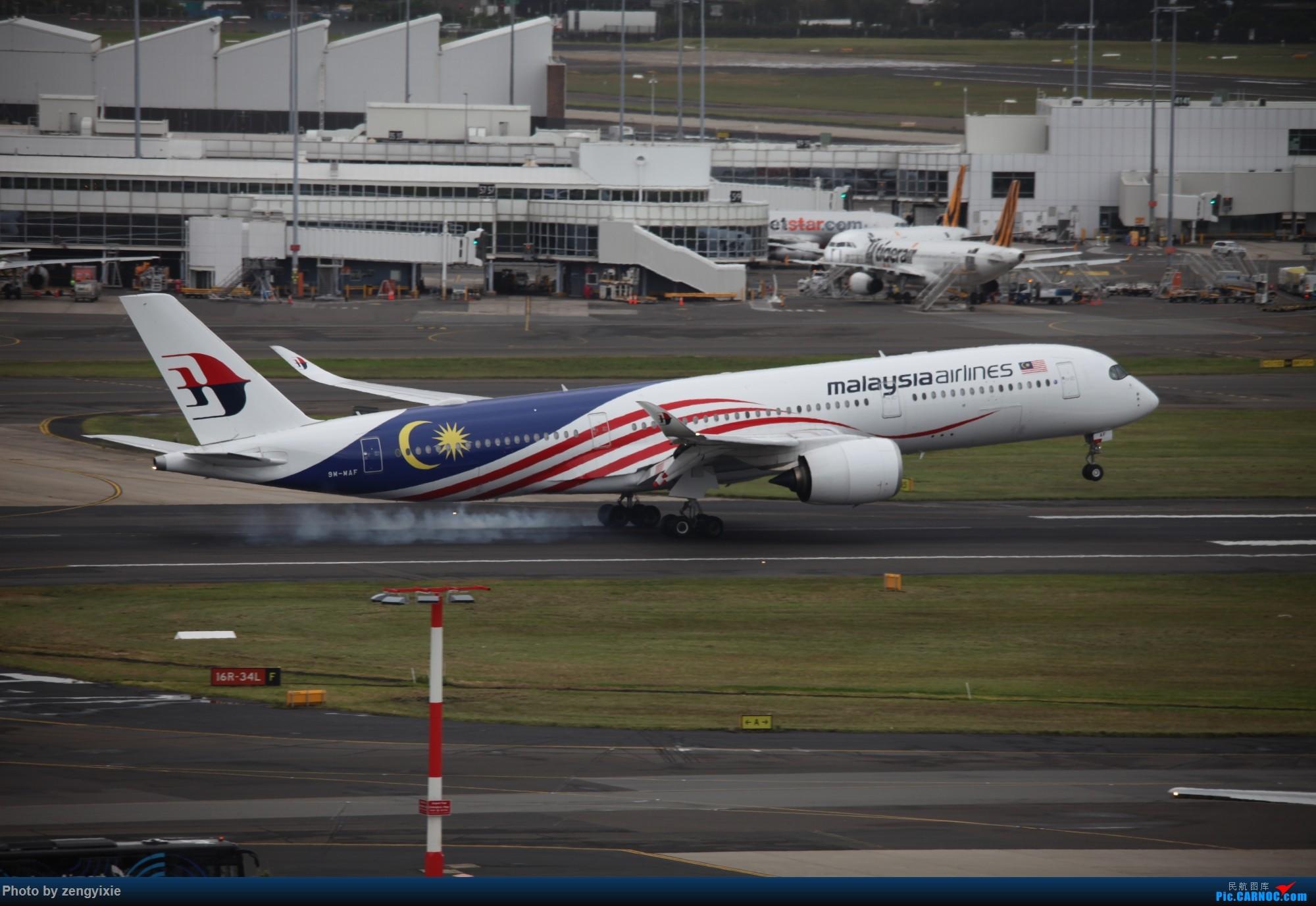 [原创]清晨的悉尼国际降落狂潮 AIRBUS A350-900 9M-MAF 澳大利亚悉尼金斯福德·史密斯机场