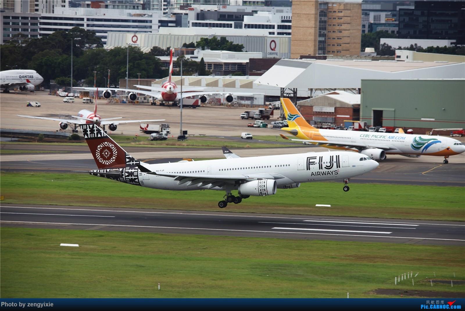 Re:[原创]清晨的悉尼国际降落狂潮 AIRBUS A330-200 DQ-FJP 澳大利亚悉尼金斯福德·史密斯机场