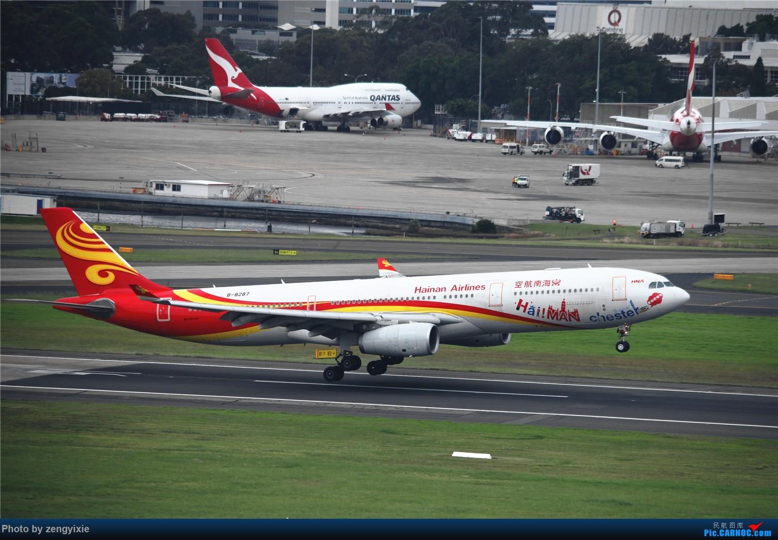 Re:[原创]清晨的悉尼国际降落狂潮 AIRBUS A330-300 B-8287 澳大利亚悉尼金斯福德·史密斯机场