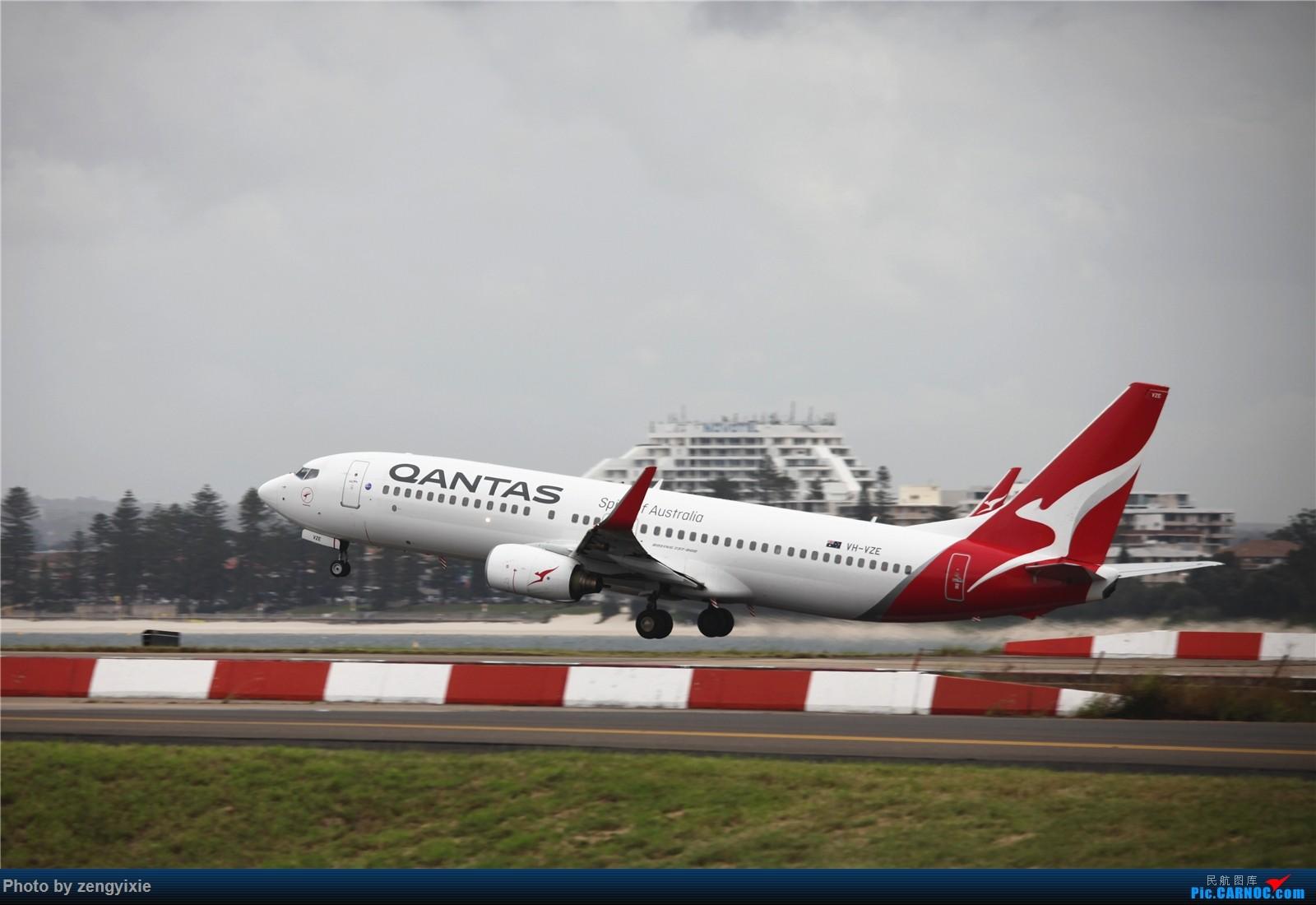 Re:[原创]清晨的悉尼国际降落狂潮 BOEING 737-800 VH-VZE 澳大利亚悉尼金斯福德·史密斯机场