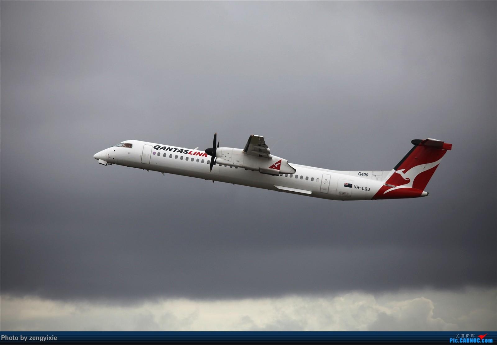 Re:[原创]清晨的悉尼国际降落狂潮 庞巴迪Q400 DASH 8 VH-LQJ 澳大利亚悉尼金斯福德·史密斯机场