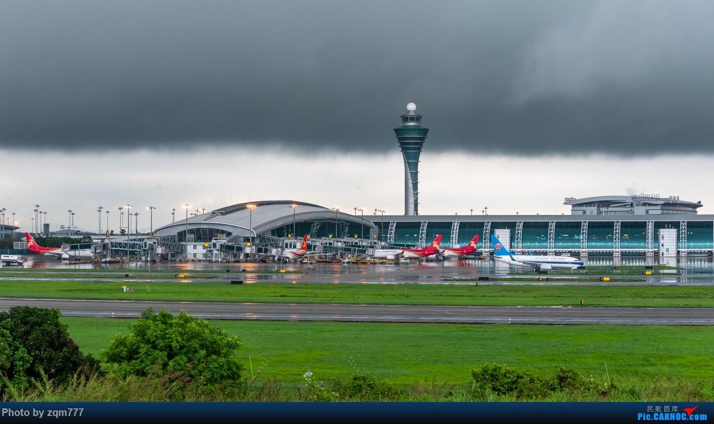 [原创]【CAN】暴雨橙色预警中拍机    中国广州白云国际机场