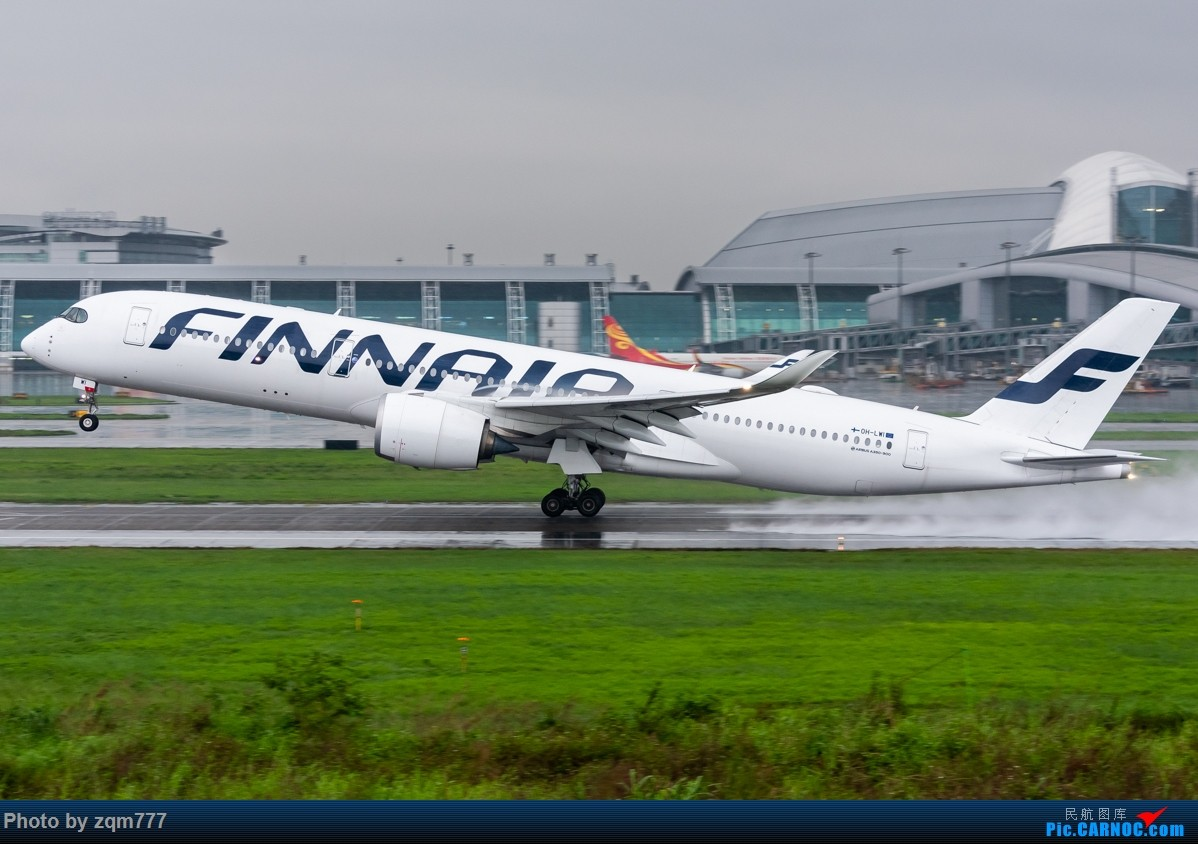 Re:[原创]【CAN】暴雨橙色预警中拍机 AIRBUS A350-900 OH-LWI 广州白云国际机场