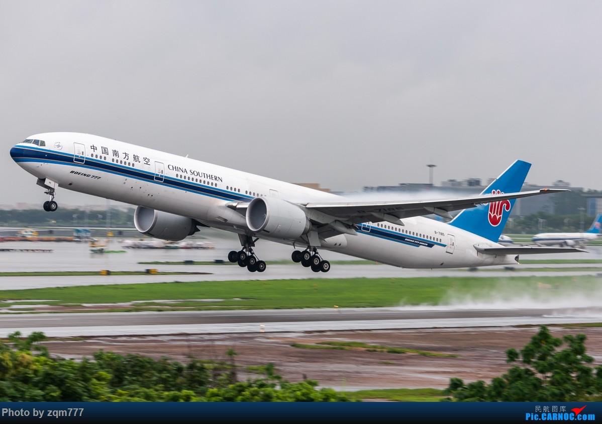 Re:[原创]【CAN】暴雨橙色预警中拍机 BOEING 777-300ER B-7185 中国广州白云国际机场