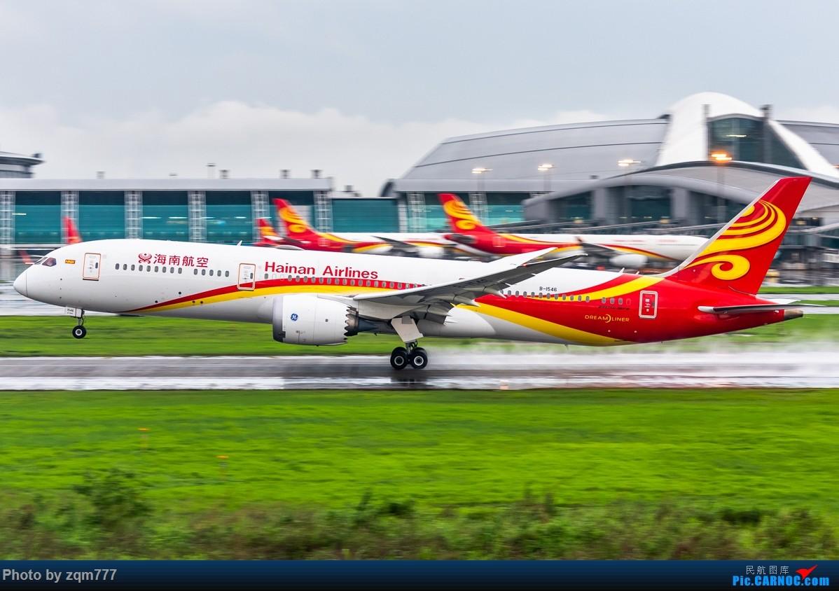 Re:[原创]【CAN】暴雨橙色预警中拍机 BOEING 787-9 B-1546 中国广州白云国际机场