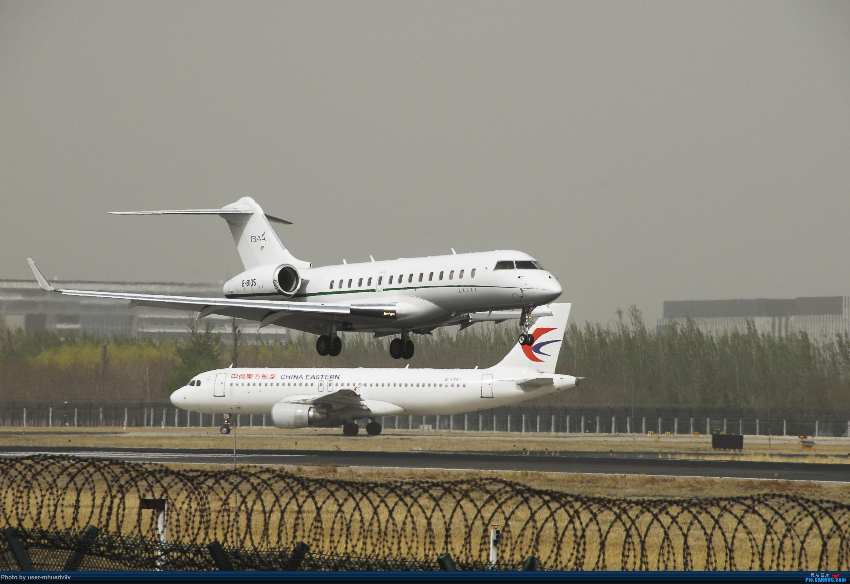 Re:[原创]50天中考!不修图了很难看凑活着吧! BOMBARDIER GLOBAL 6000 B-8105 中国北京首都国际机场