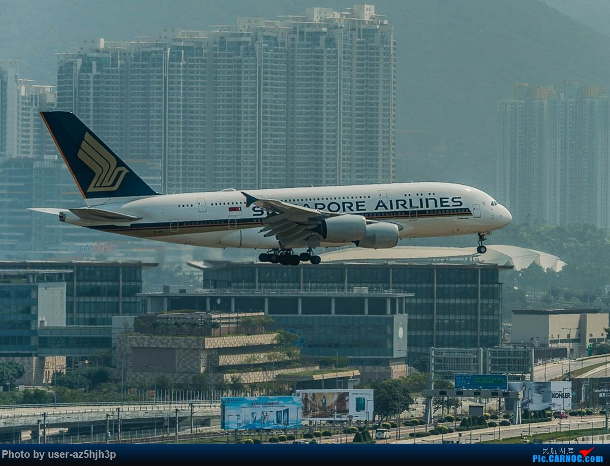 Re:[原创]2号客运大厅观景台拍机 AIRBUS A380 9V-SXZ 香港国际机场