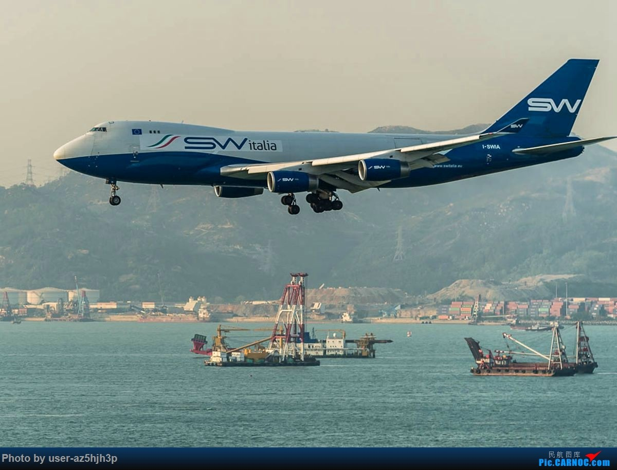 Re:[原创]2号客运大厅观景台拍机 BOEING 747-400 I-SWA 香港国际机场