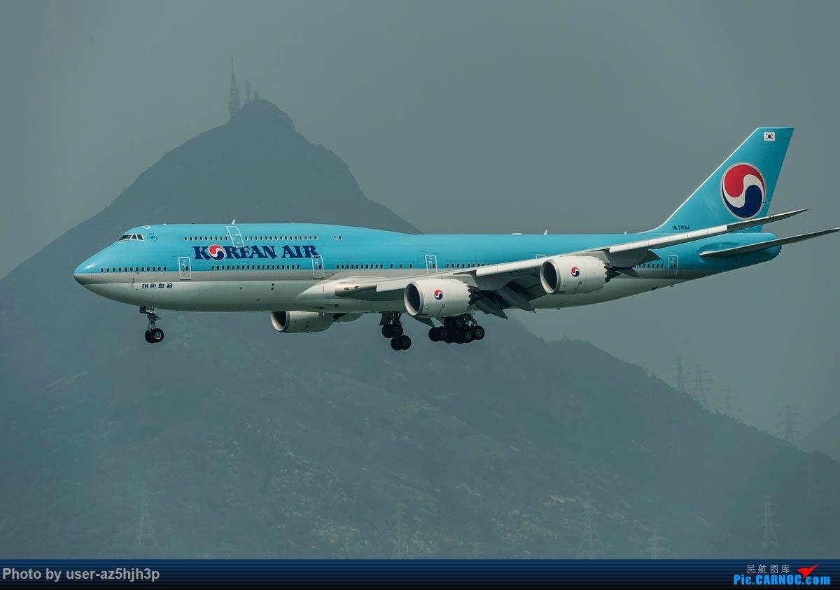 Re:[原创]2号客运大厅观景台拍机 BOEING 747-8 HL7644 香港国际机场