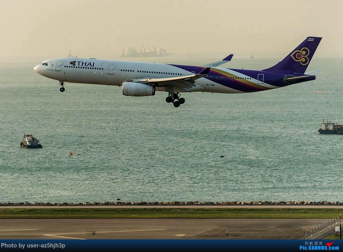 Re:[原创]2号客运大厅观景台拍机 AIRBUS A330-200 HS-TBG 香港国际机场