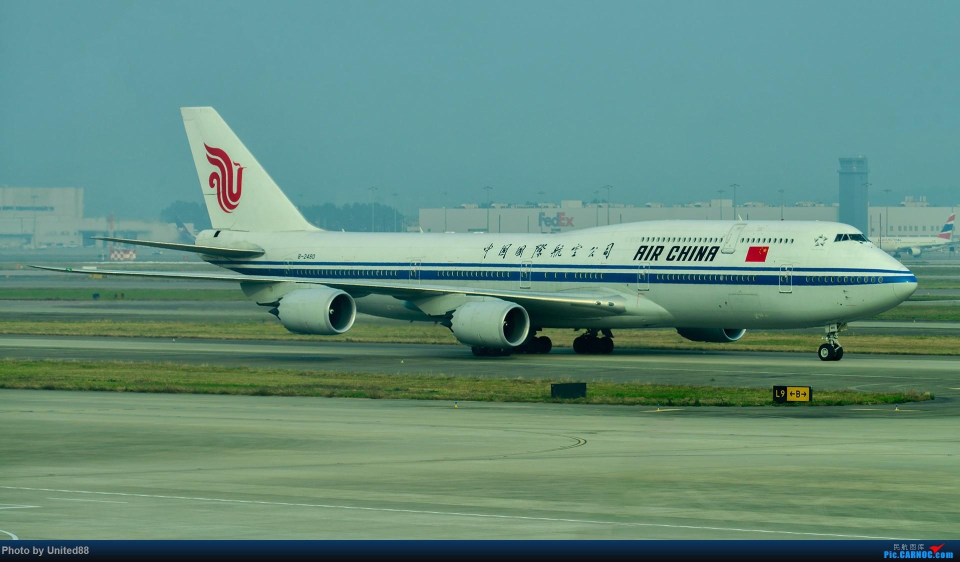 [原创]那一年的CA1316 ! 祝愿国航747 B2480北京新机场试飞成功! BOEING 747-8I B-2480 中国广州白云国际机场