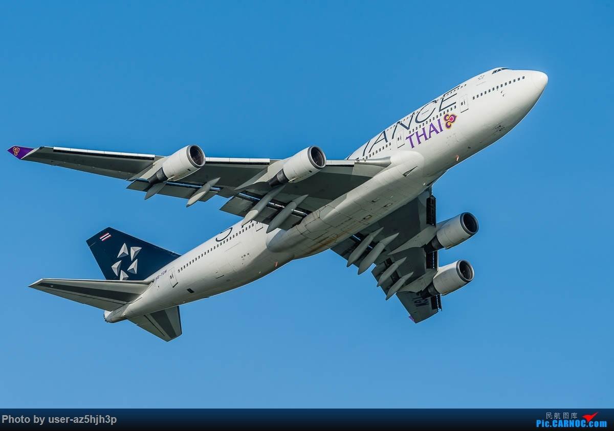 Re:[原创]飞向蓝天 BOEING 747-400 HS-TGW 香港国际机场