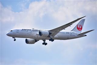 日本航空B787-8曼谷素万那普降落姿态