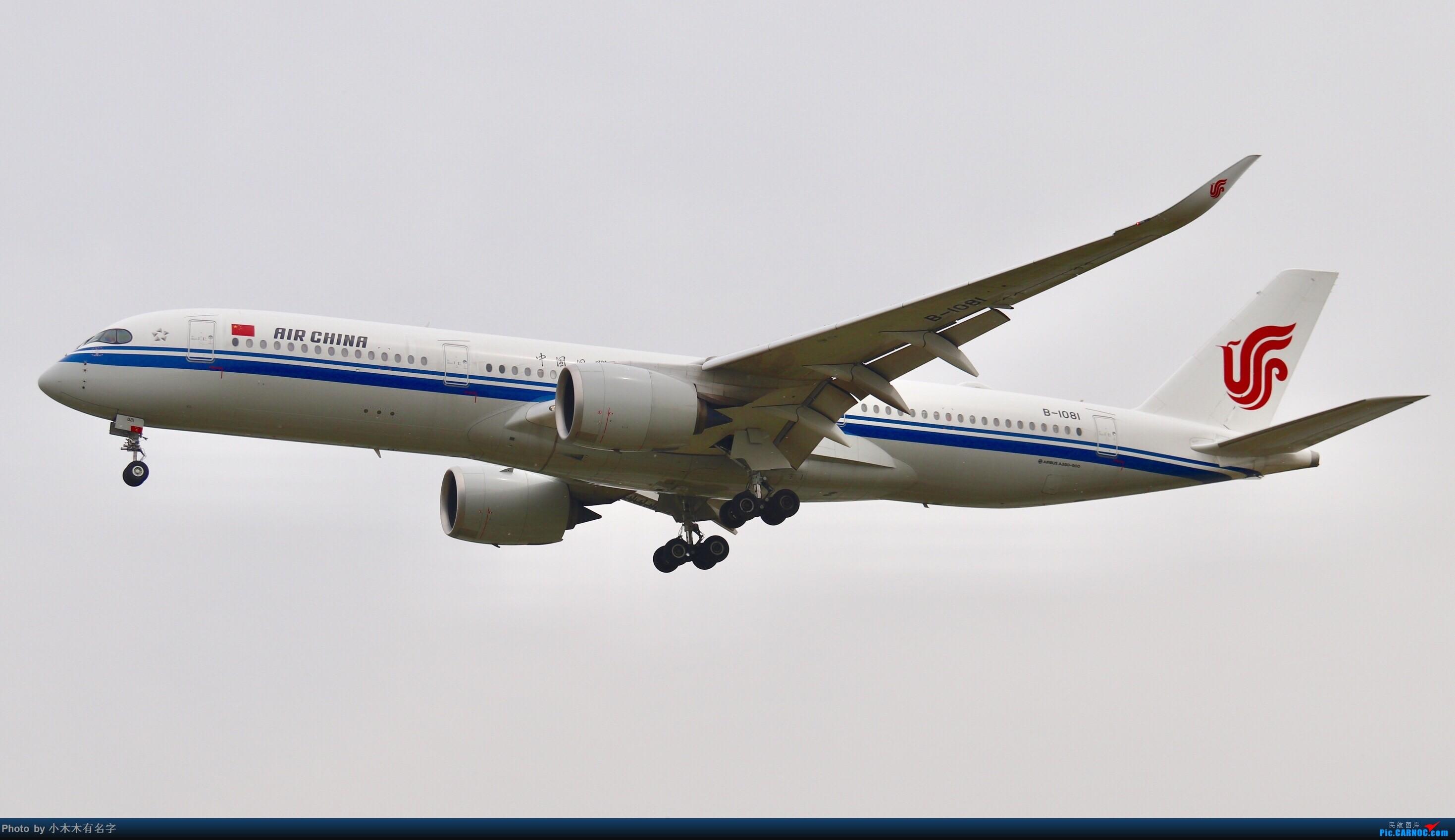[原创]没有蓝天背景的PEK AIRBUS A350-900 B-1081 中国北京首都国际机场